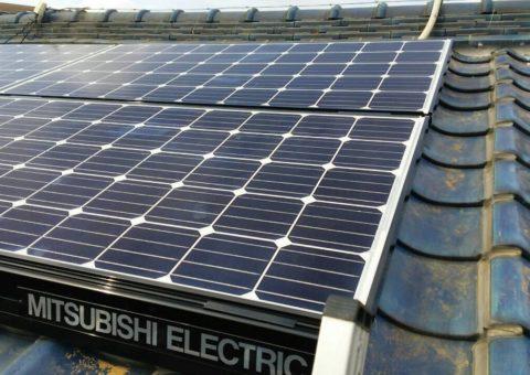 和歌山県三菱太陽光パネル 6枚PV-MA2180K 施工後その他の写真1