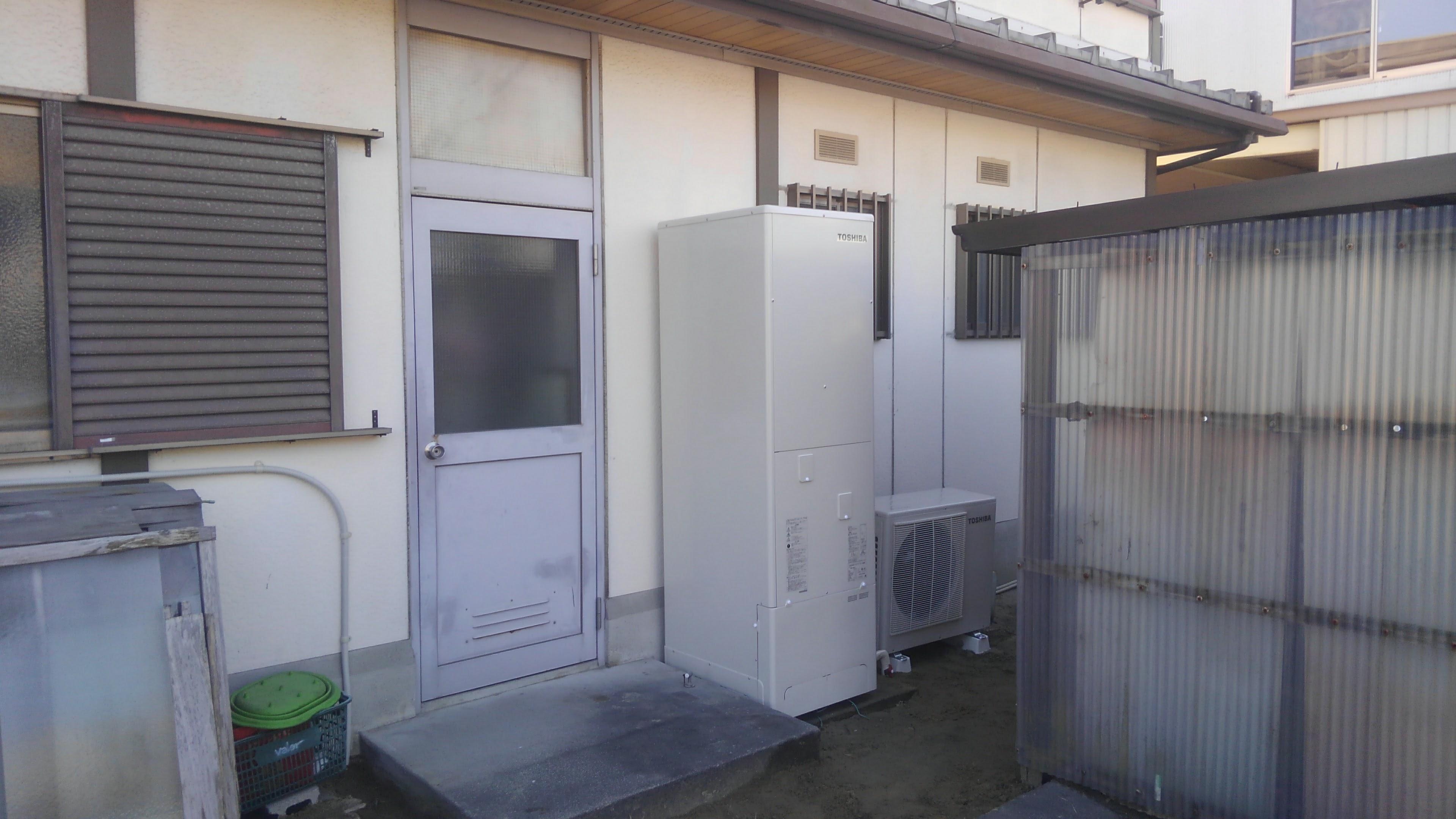 和歌山県東芝エコキュートHWH-B465H施工後の写真