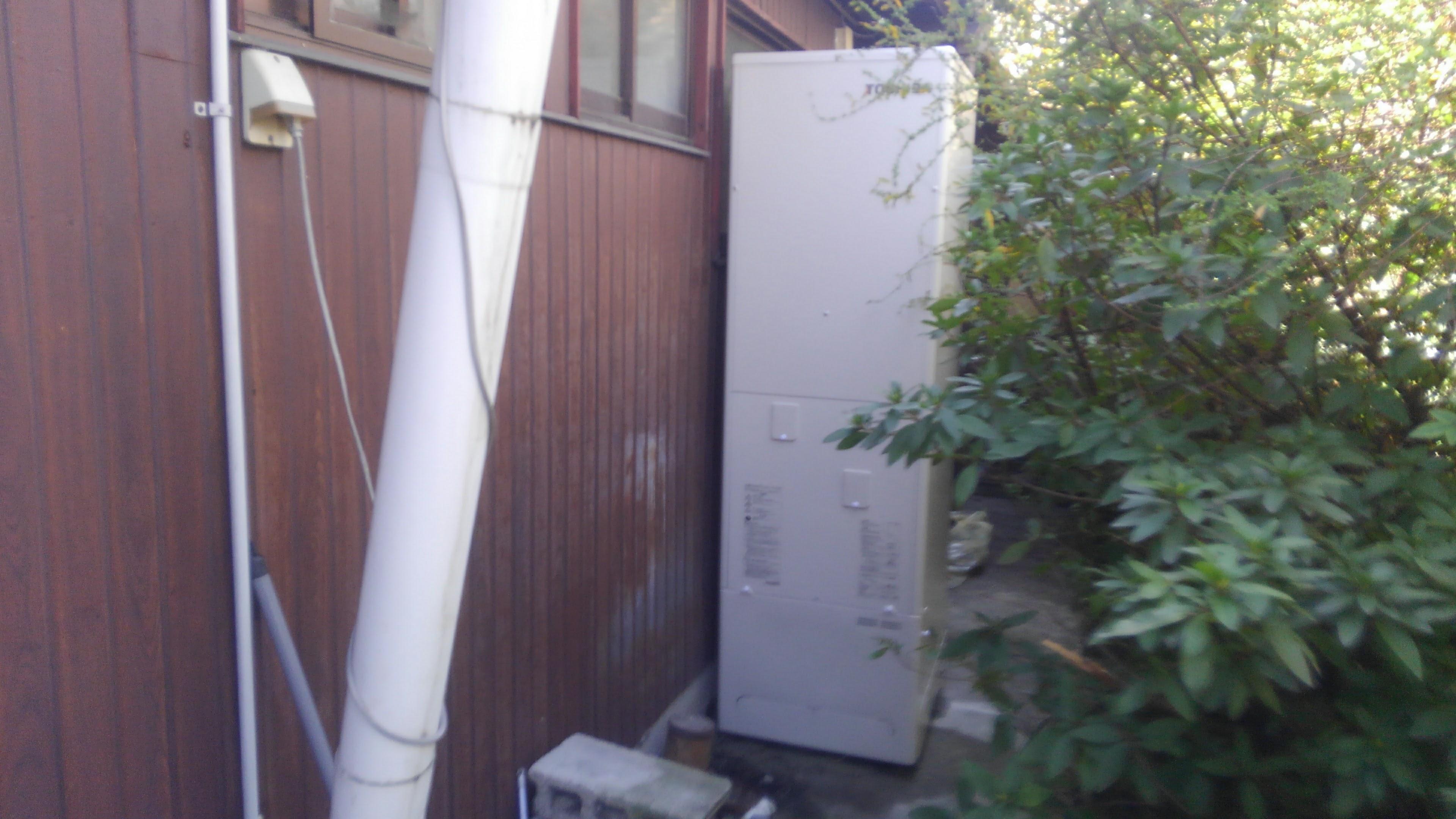 京都府東芝エコキュートHWH-F465H施工後の写真