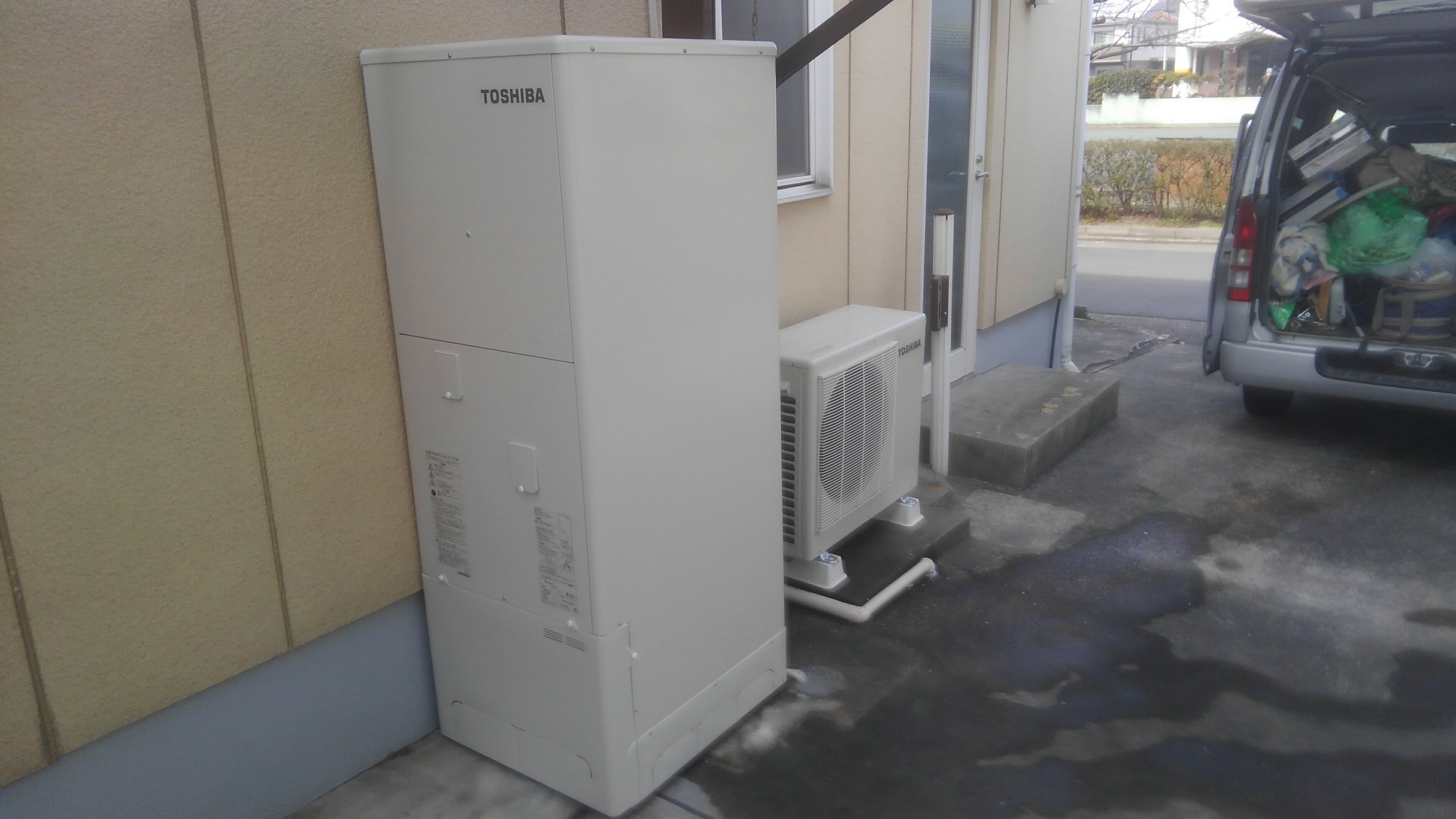 滋賀県東芝エコキュートHWH-B375H施工後の写真