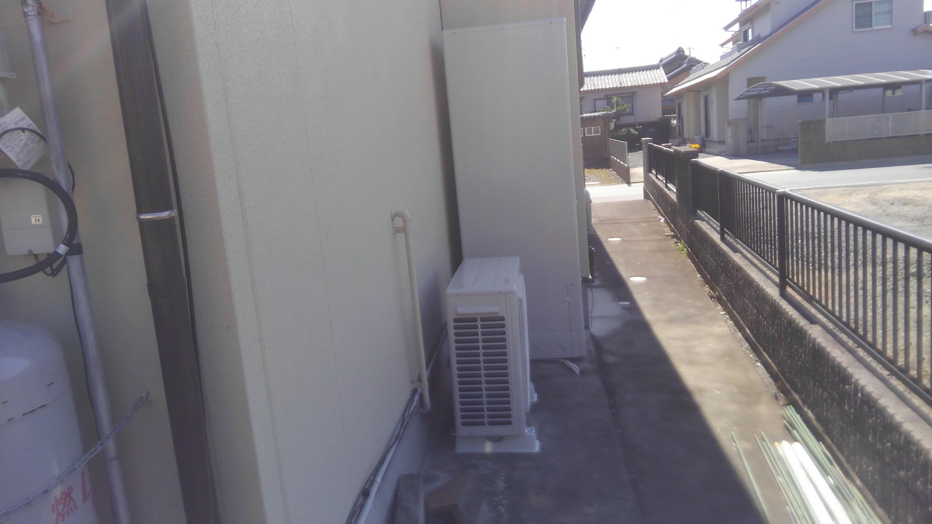 愛知県東芝エコキュートHWH-B375H施工後の写真