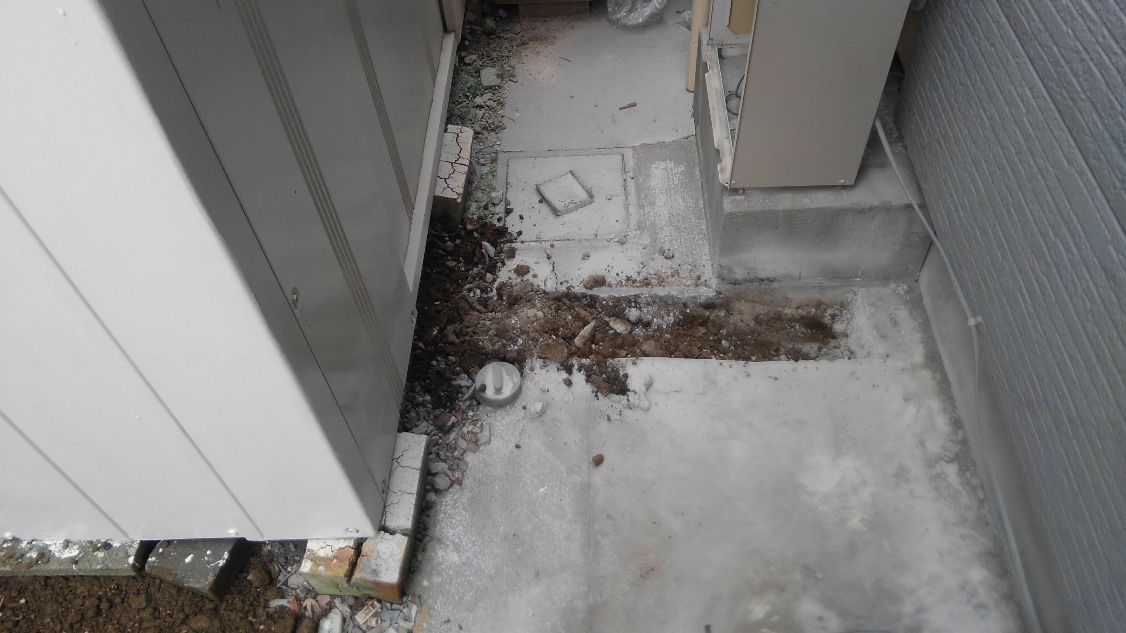 京都府東芝エコキュートHWH-B375H施工前の写真