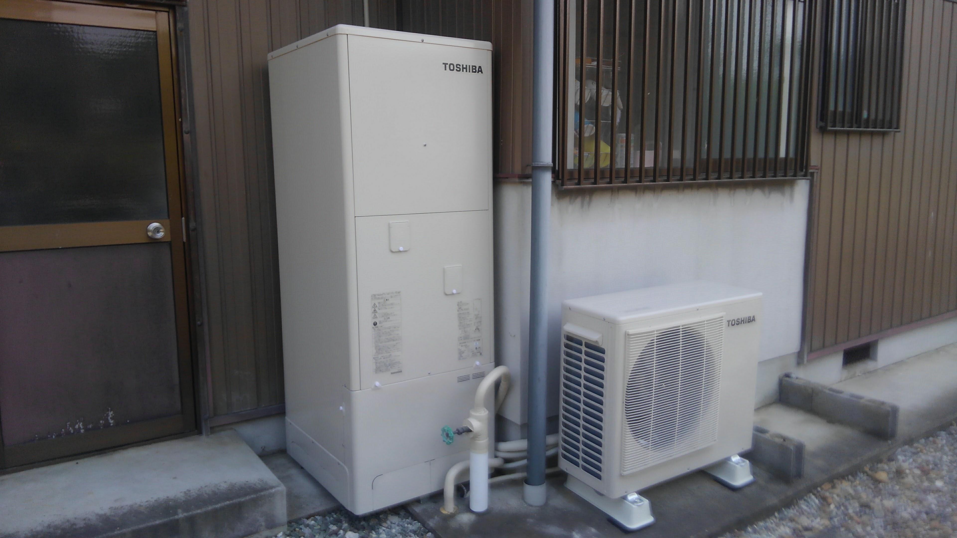 和歌山県東芝エコキュートHWH-B375H施工後の写真