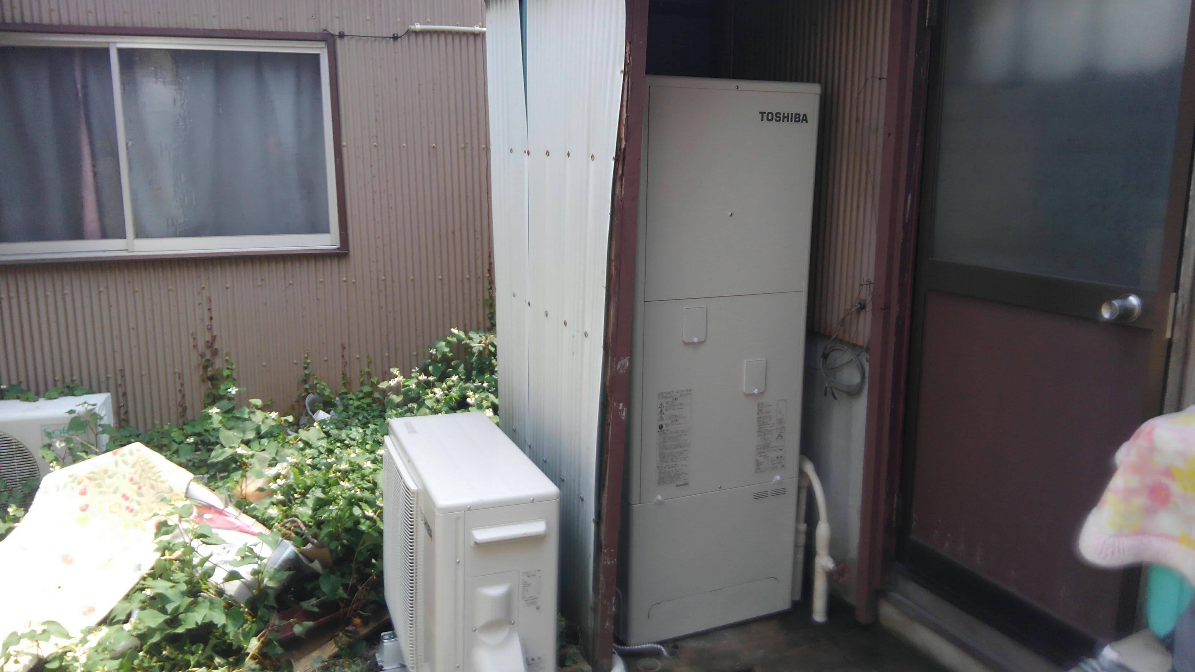 奈良県東芝エコキュートHWH-F375H施工後の写真