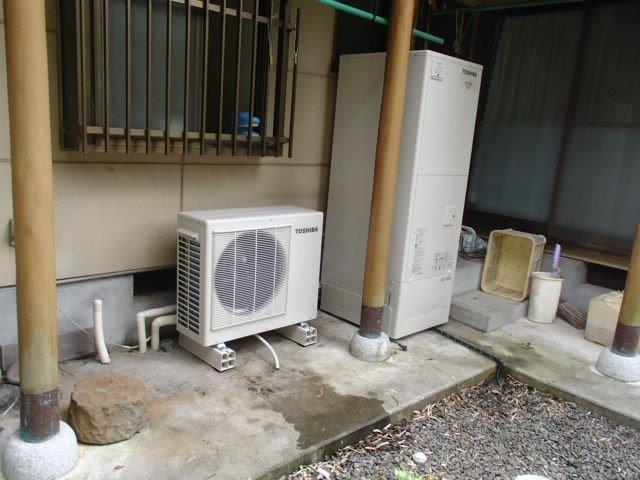 三重県東芝エコキュートHWH−FB373C施工後の写真