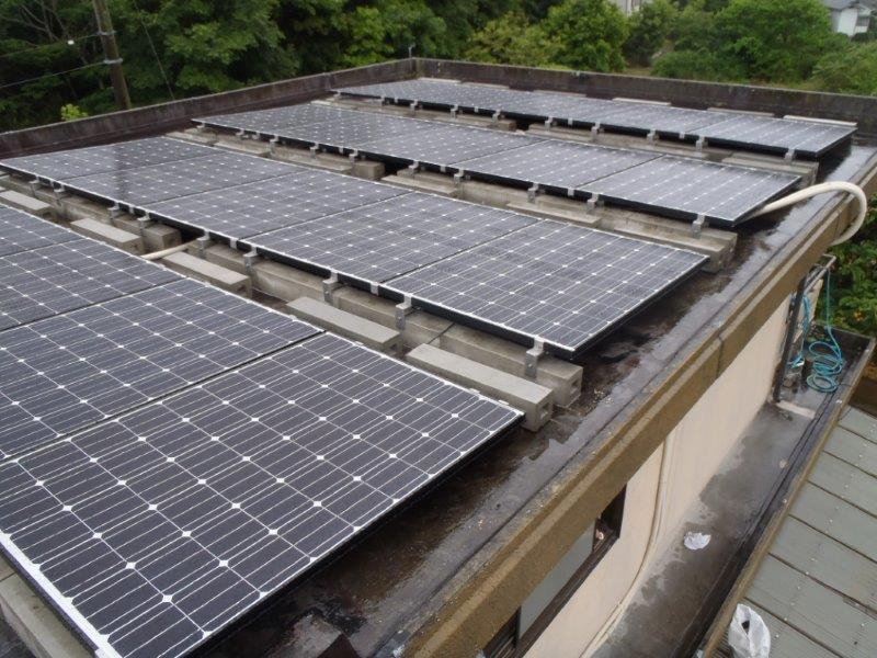 京都府長州太陽光パネル 35枚CS-246B41施工後の写真