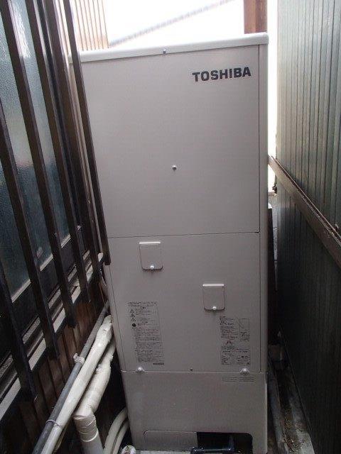 滋賀県東芝エコキュートHWH-B374H施工後の写真