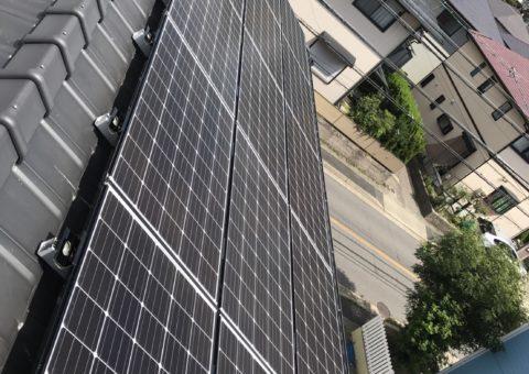 滋賀県三菱太陽光パネル 15枚PV-MA2250M施工後その他の写真1
