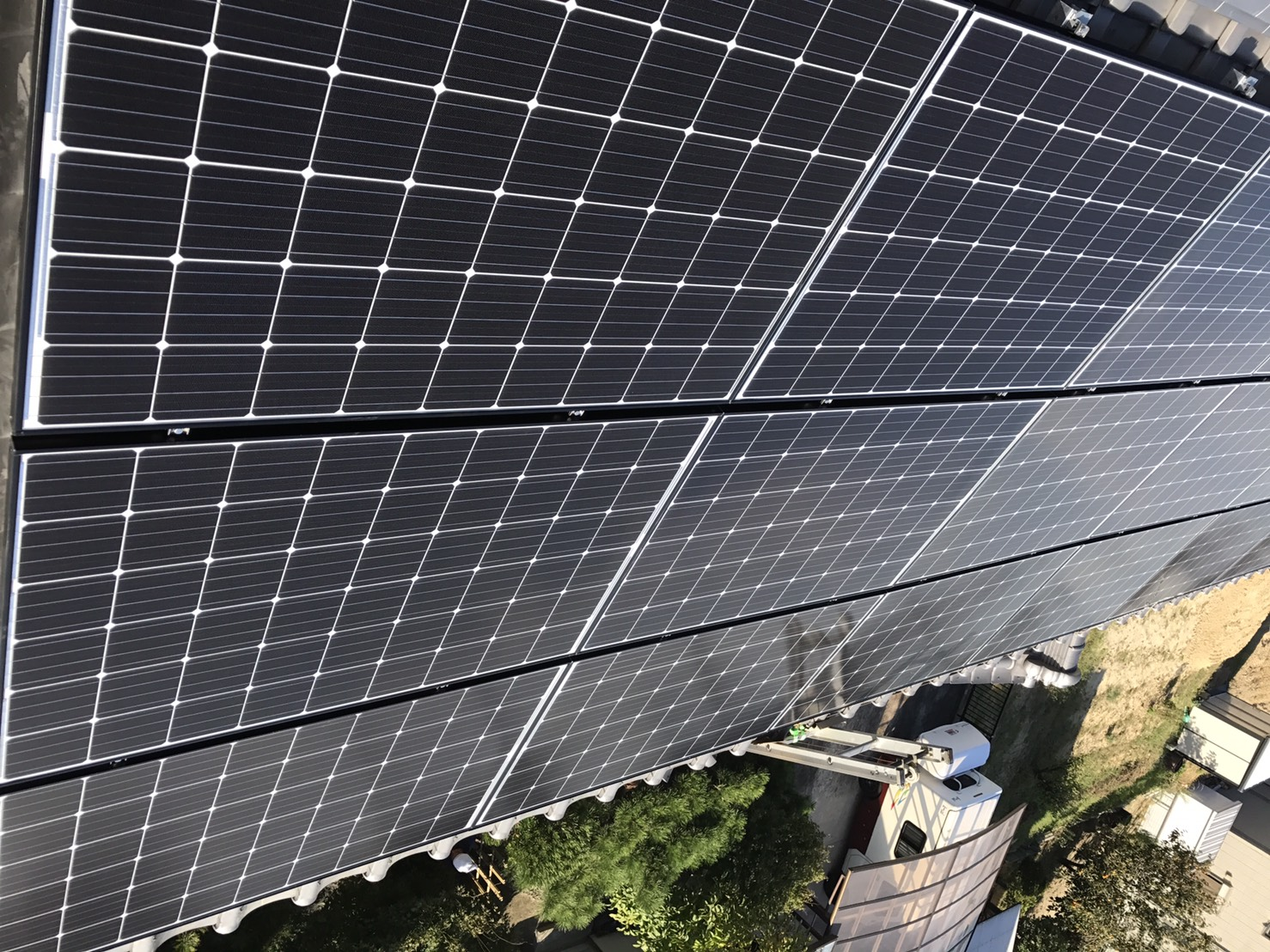 奈良県長州太陽光パネル 20枚CS-274B61施工後の写真