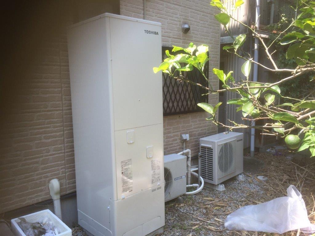 奈良県東芝エコキュートHWH-B465HA施工後の写真