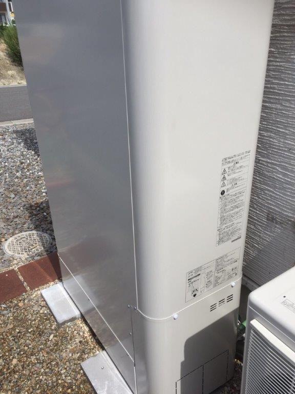奈良県東芝エコキュートHWH-B375HWA日立IHクッキングヒーターHT-K200XTF施工後の写真