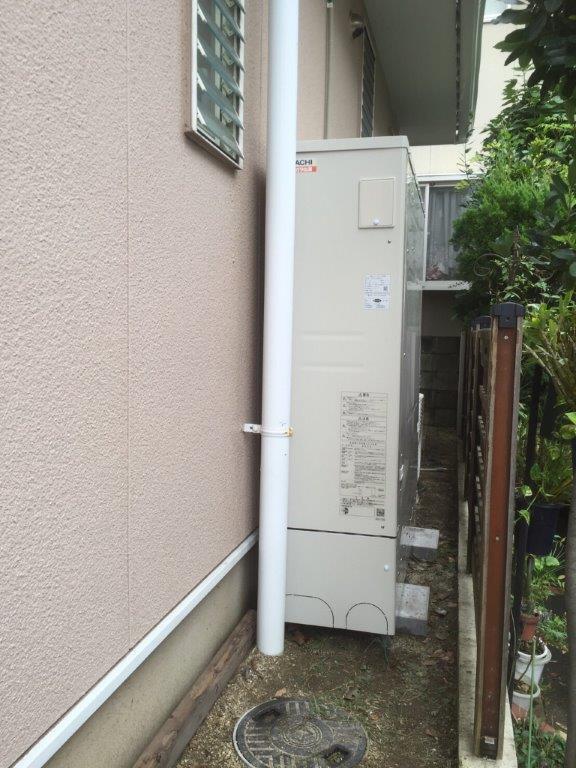 和歌山県日立エコキュートBHP-FS37LD施工後の写真