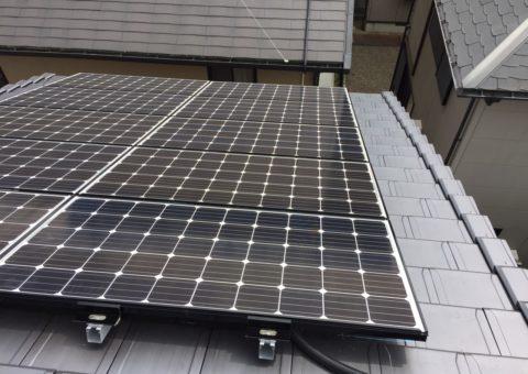 大阪府三菱太陽光パネル 22枚PV-MA2180K施工後その他の写真2