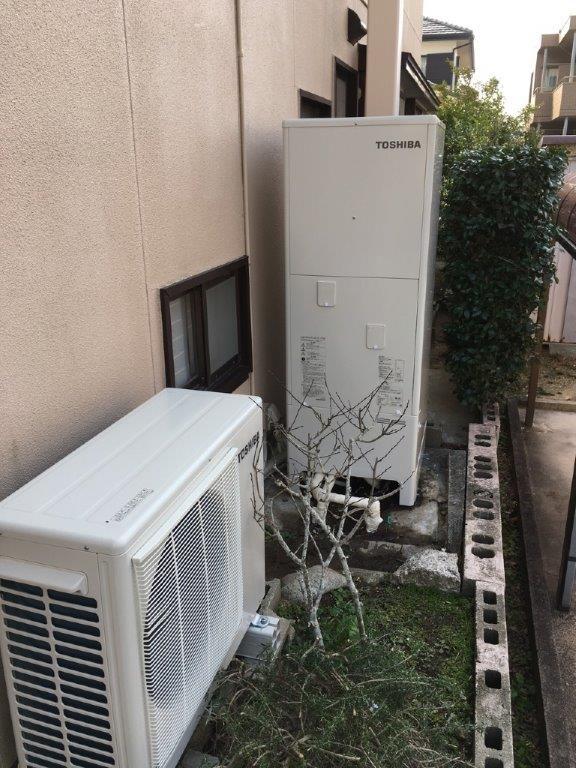 大阪府東芝エコキュートHWH-F374施工後の写真