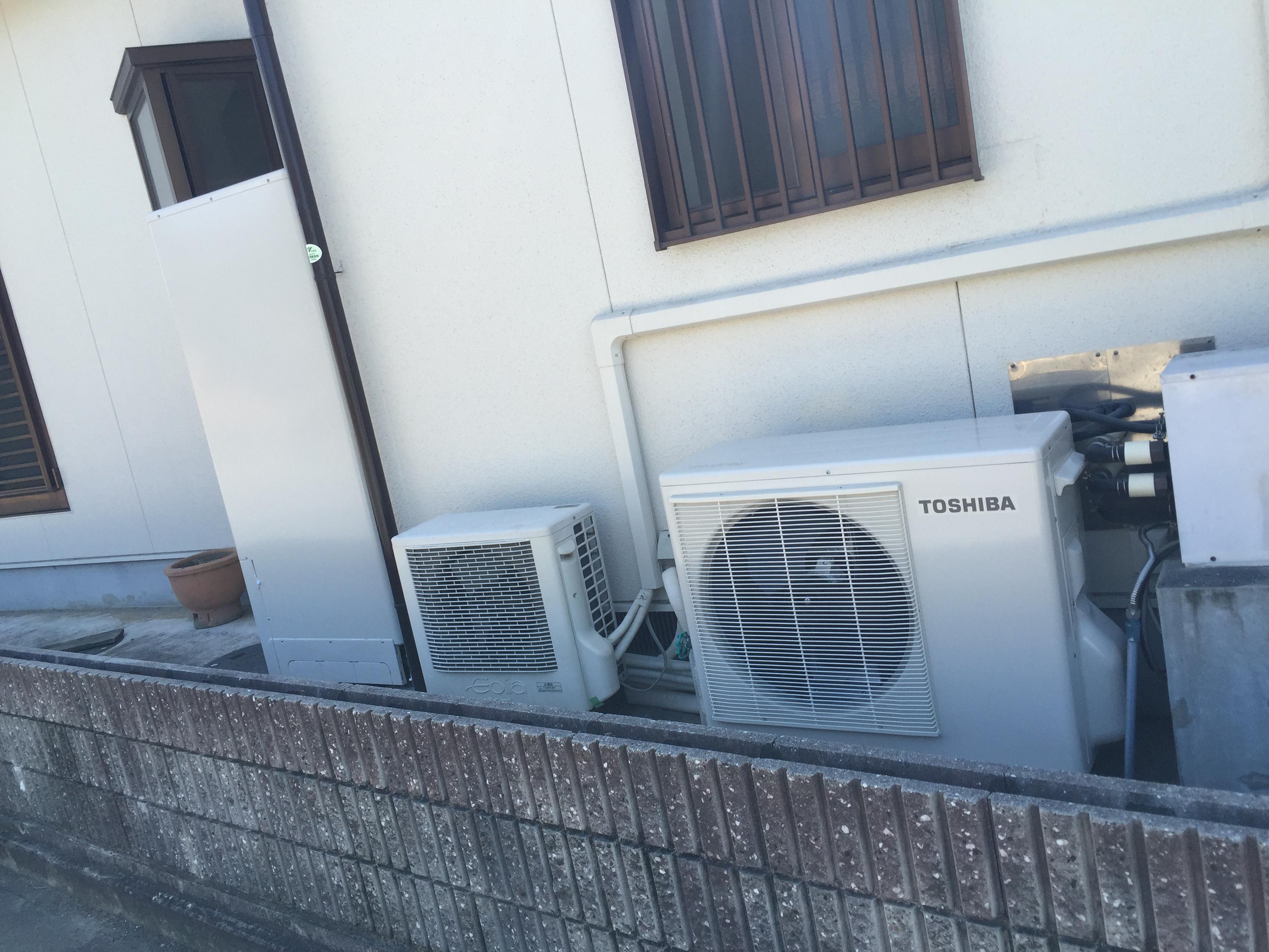 和歌山県東芝エコキュートHWH−B375HA施工後の写真