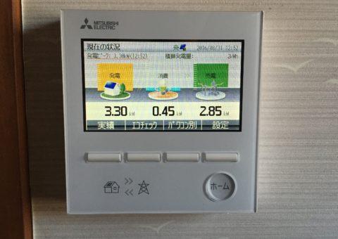 滋賀県三菱太陽光パネル 20枚PV-MA2180K施工後その他の写真2