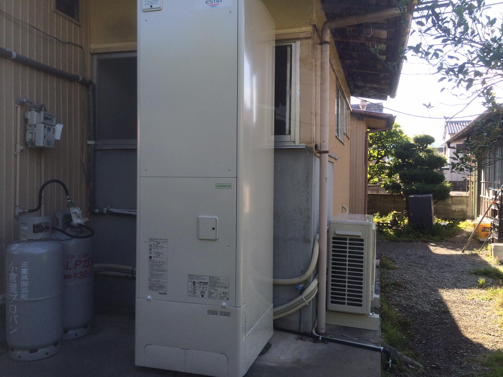 三重県東芝エコキュートHWH-FBH463SC-Z施工後の写真