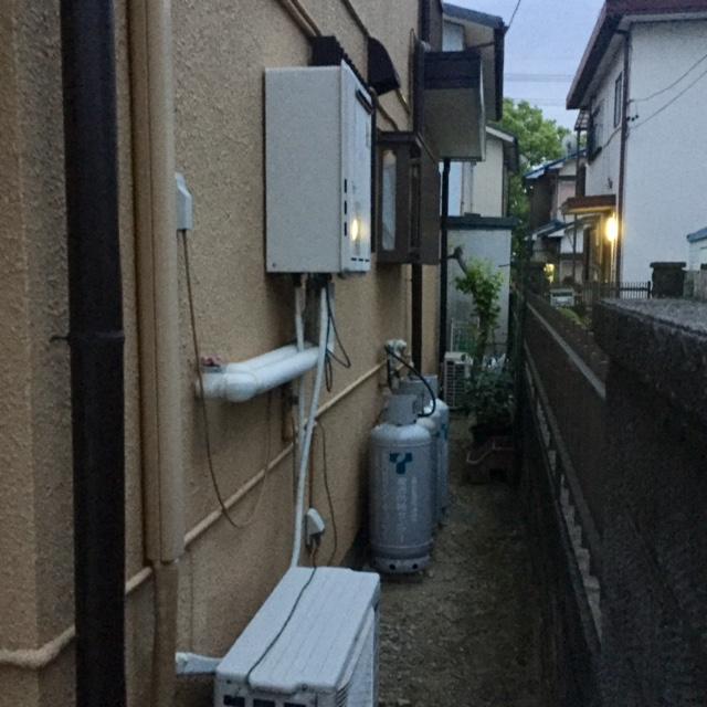 滋賀県東芝エコキュートHWH-B357H施工前の写真