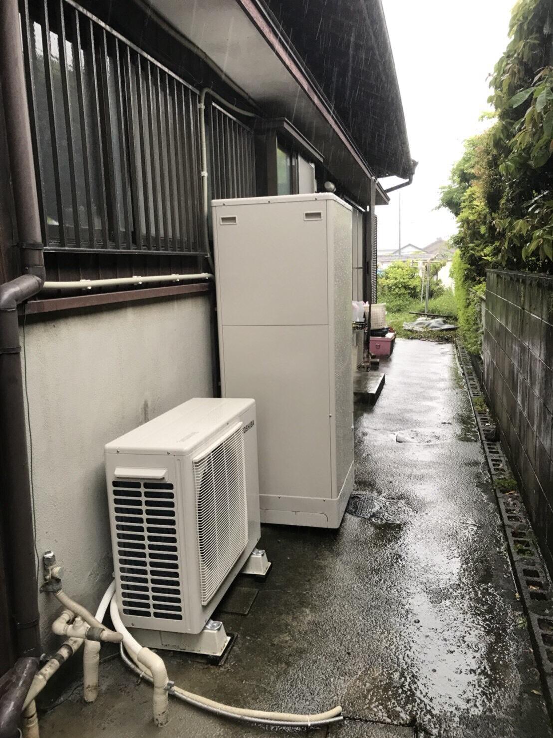 大阪府東芝エコキュートHWH-F375H施工後の写真