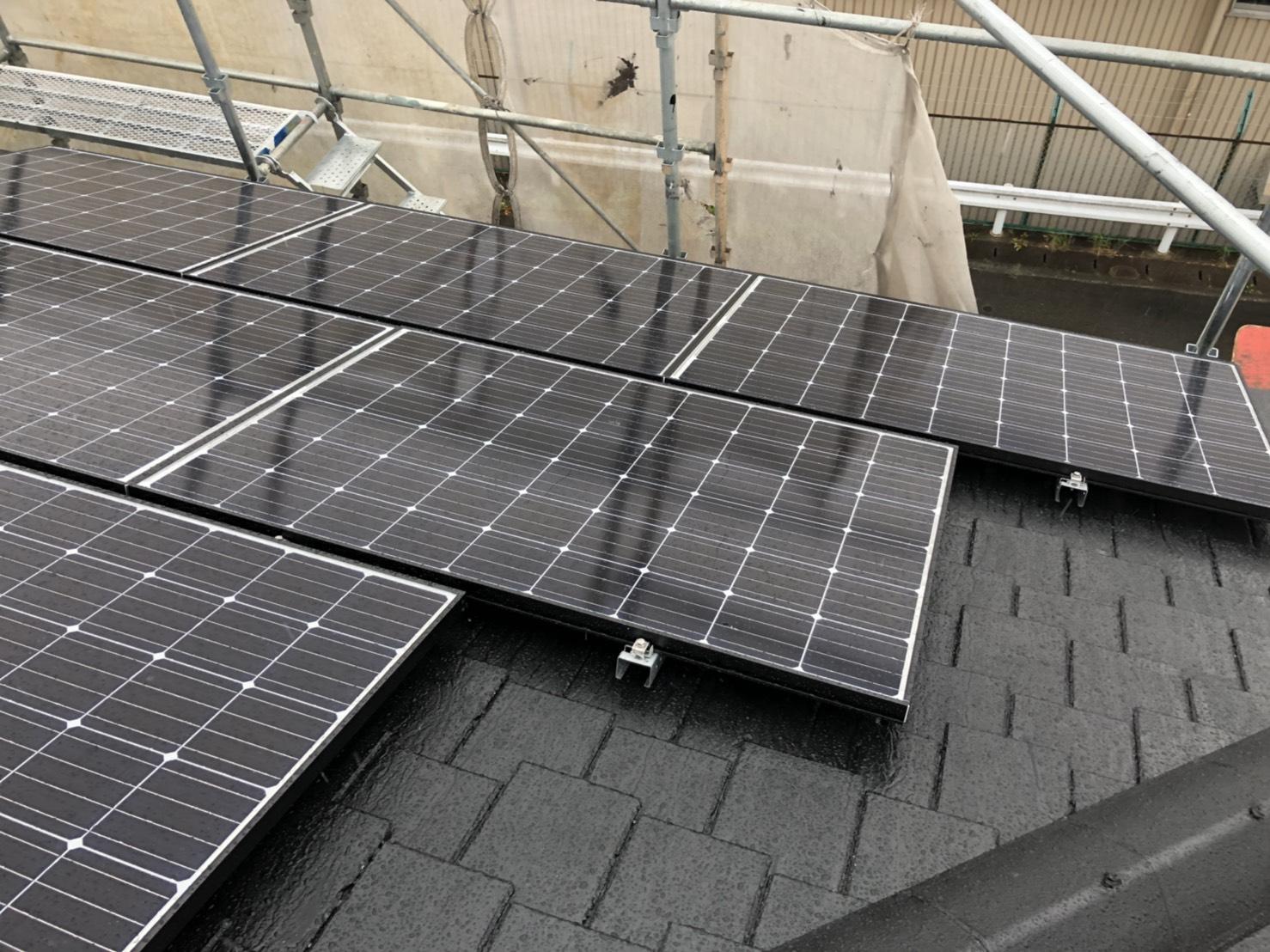 大阪府長州太陽光発電CS-274B61×11枚施工後の写真