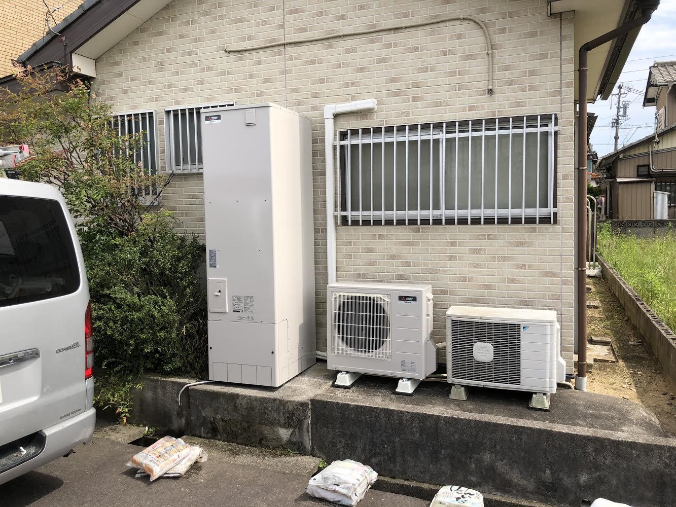 大阪府三菱エコキュートSRT-S463U施工後の写真
