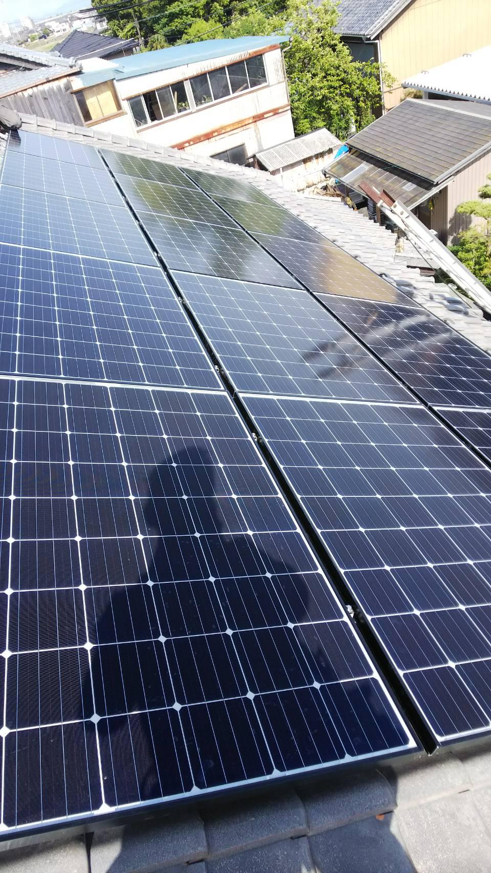 大阪府長州太陽光発電CS-274B61×15枚施工後の写真