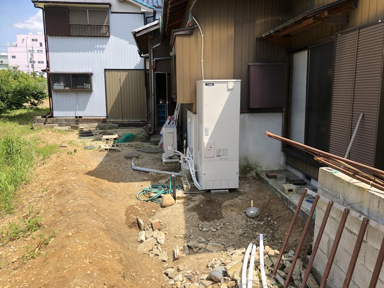 大阪府三菱エコキュートSRT-S373U施工後の写真