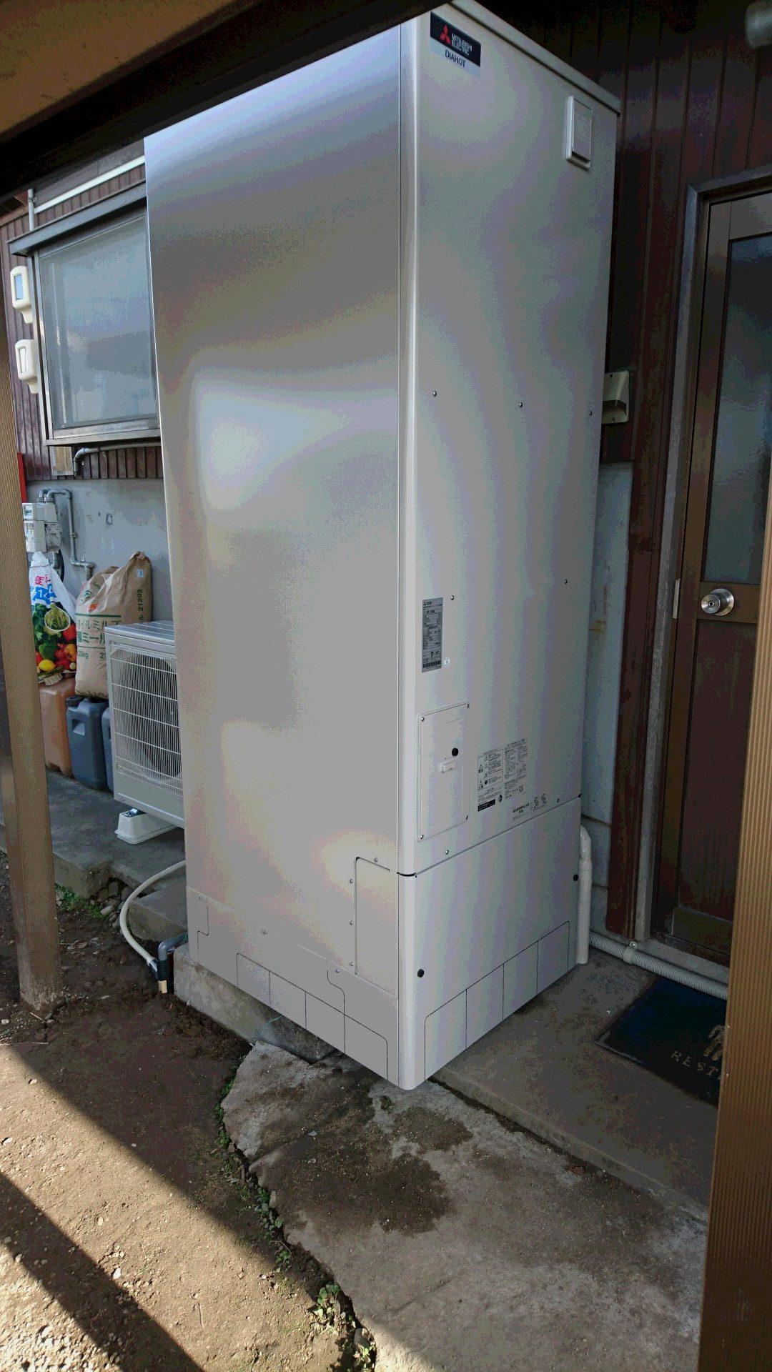 大阪府三菱エコキュートSRT-ST553U施工後の写真