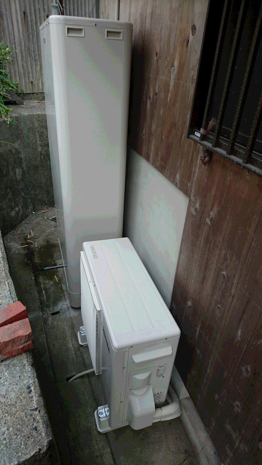 大阪府東芝エコキュートHWH-B375HWV施工後の写真