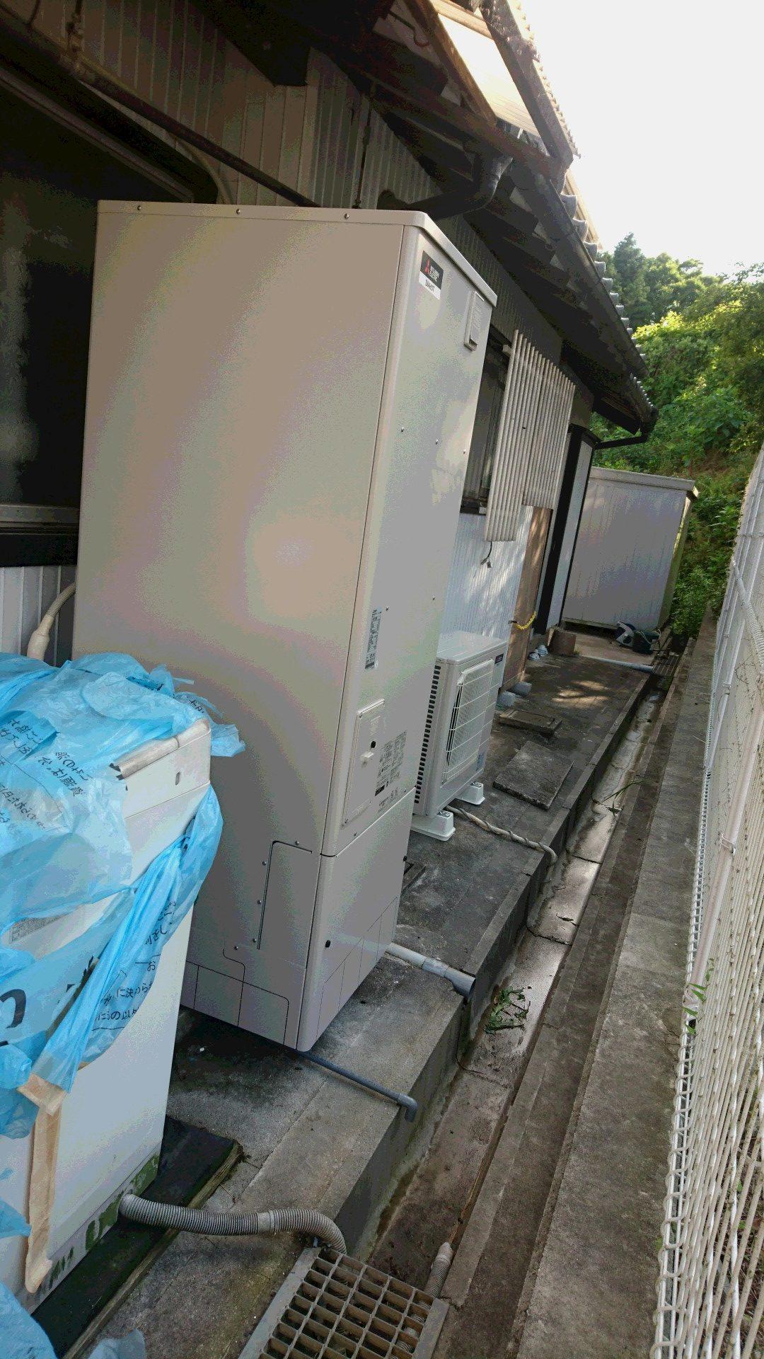 大阪府三菱エコキュートSRT-SK553D施工後の写真