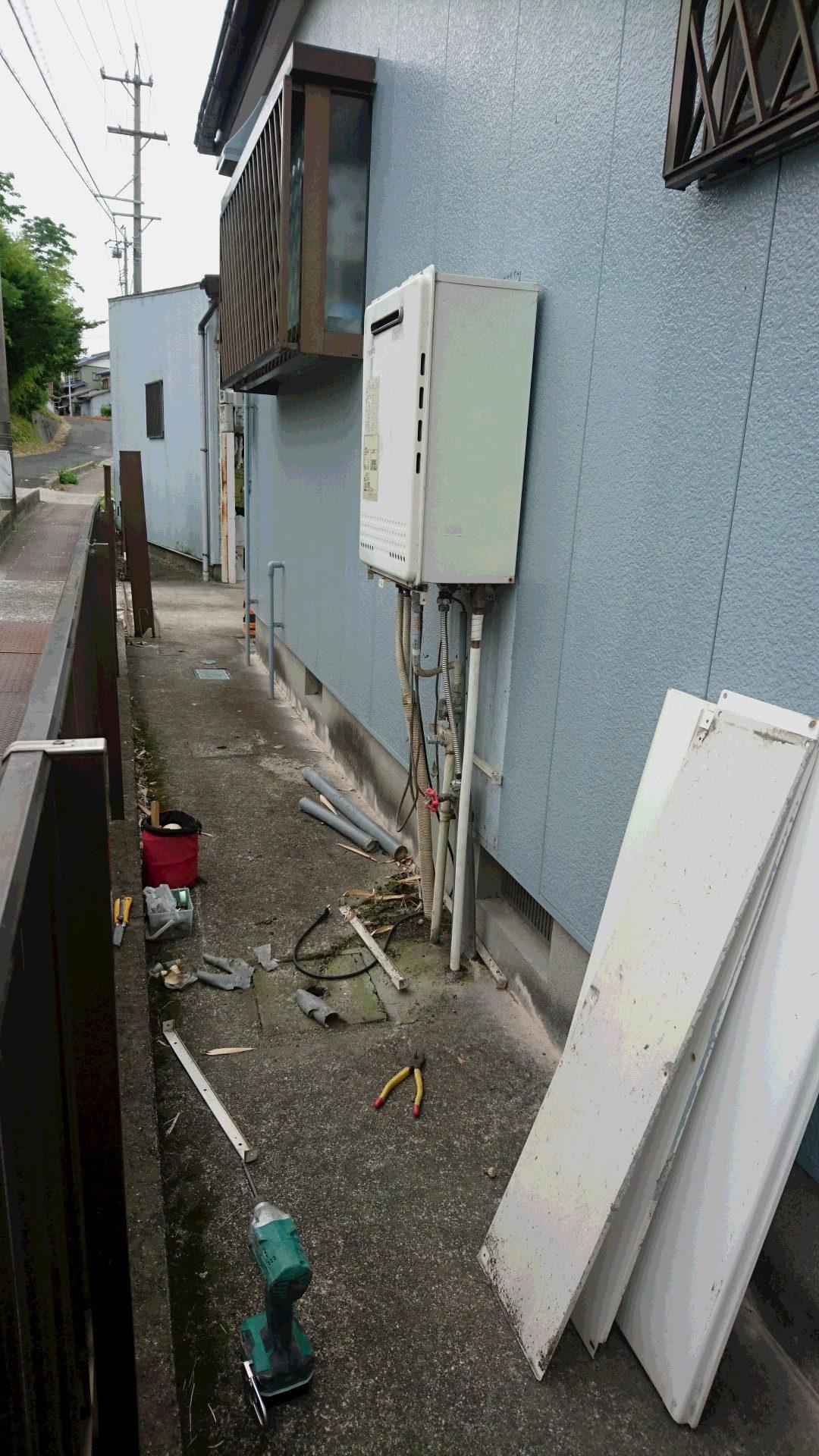 大阪府三菱エコキュートSRT-ST463U施工前の写真
