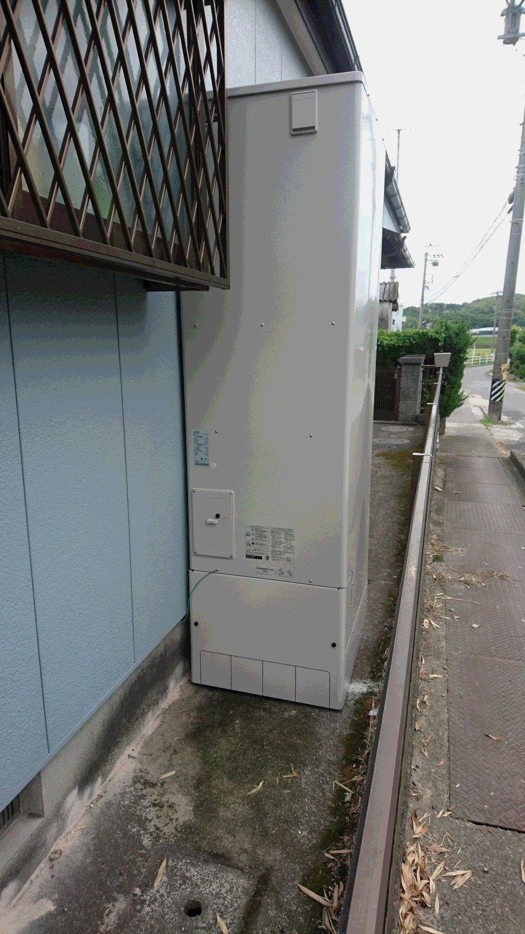 大阪府三菱エコキュートSRT-ST463U施工後の写真