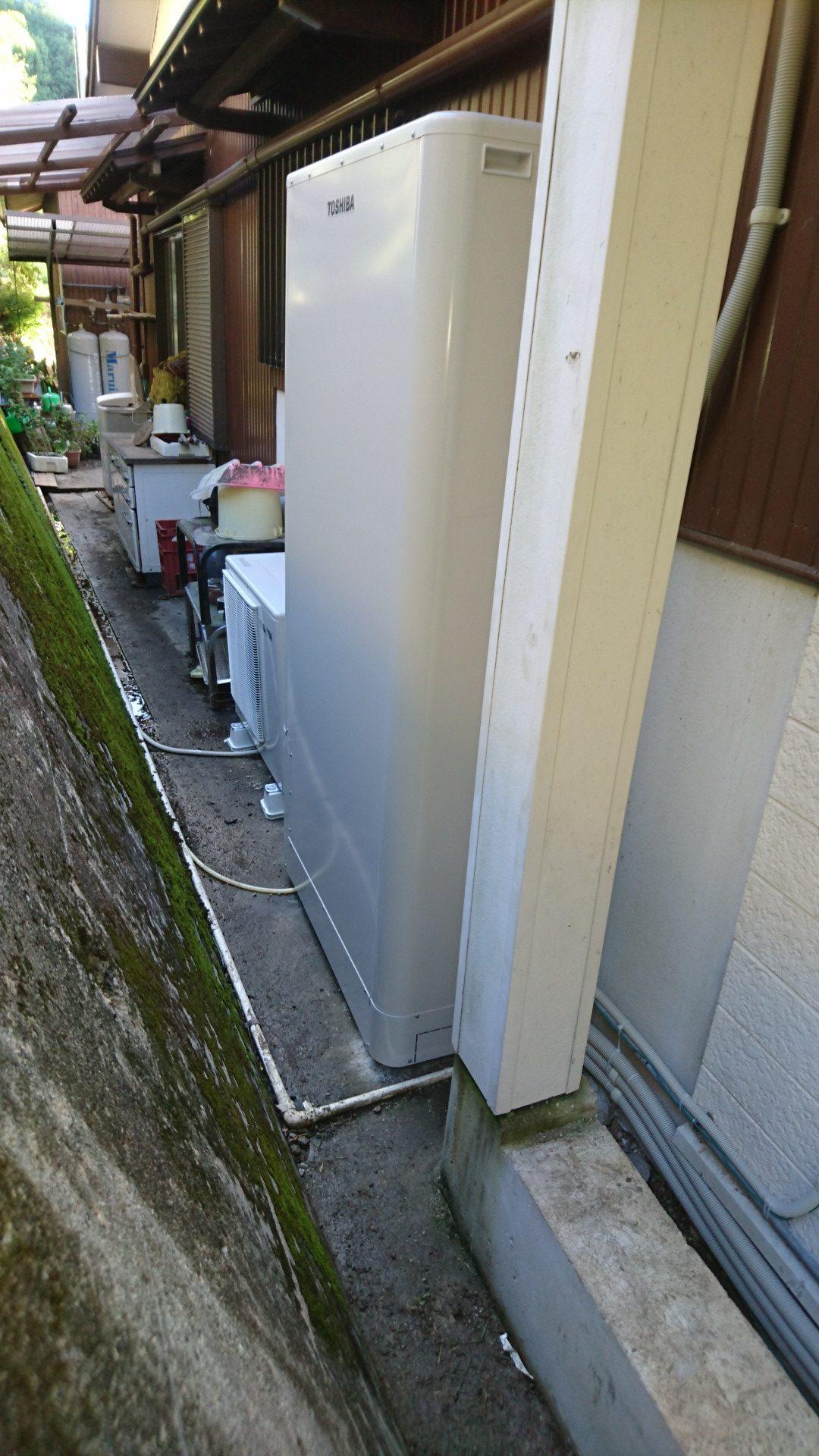 大阪府東芝エコキュートHWH-B375HWTV施工後の写真