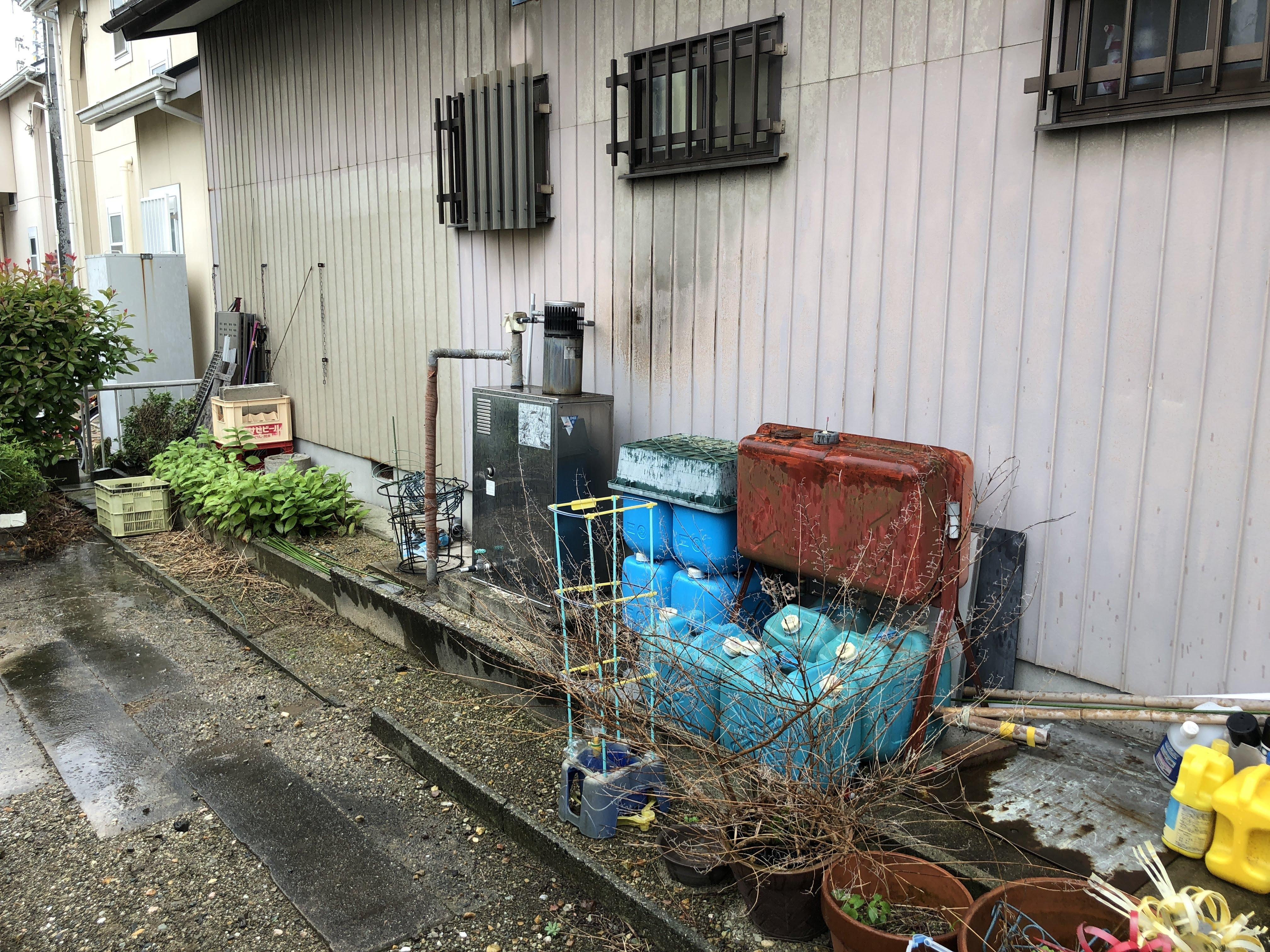 大阪府三菱エコキュートSRT-S464UA三菱IHクッキングヒーターCS-G318M施工前の写真