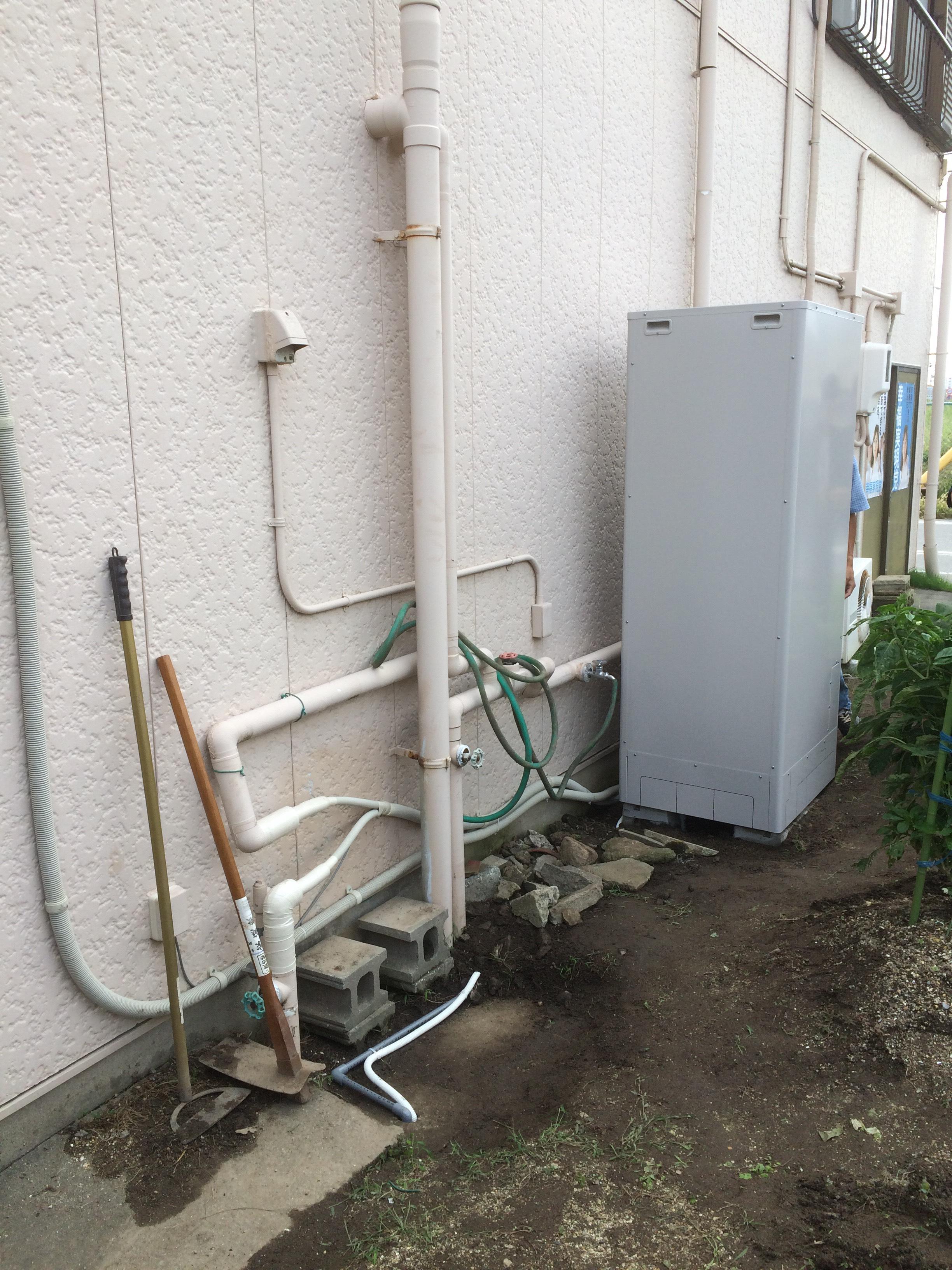 大阪府三菱エコキュートSRT-ST374U施工後の写真