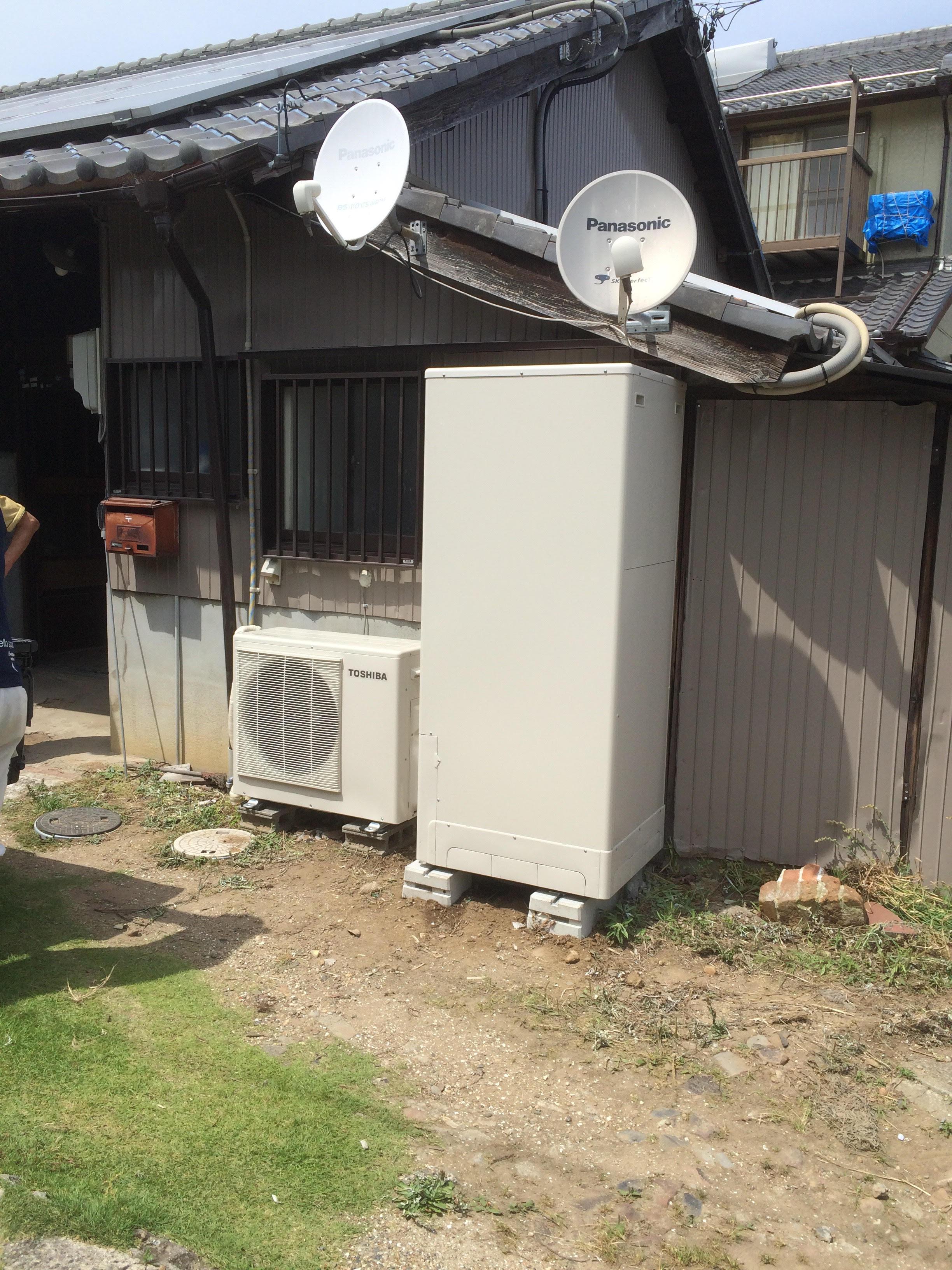 大阪府東芝エコキュートHWH-B375HA施工後の写真