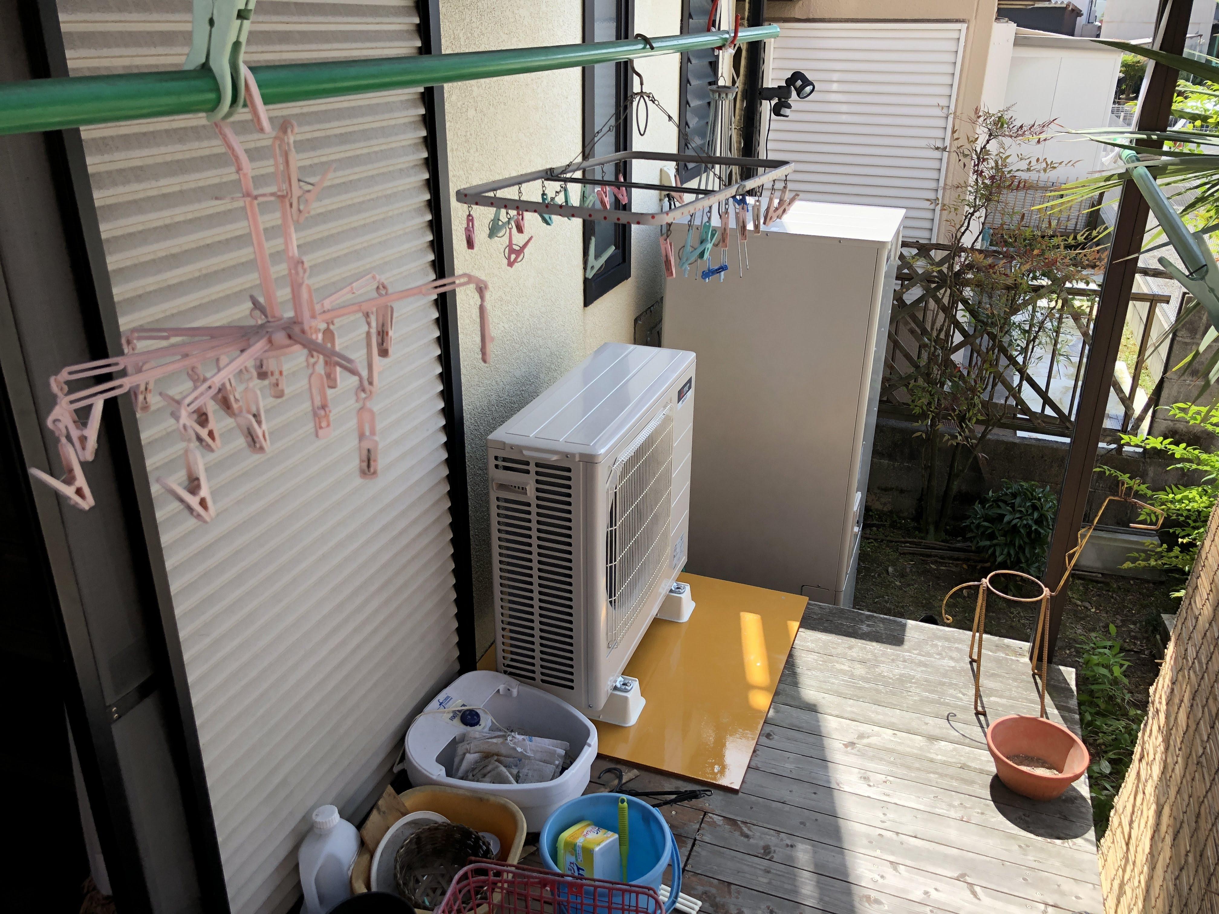 大阪府三菱エコキュートSRT-SK373UD施工後の写真