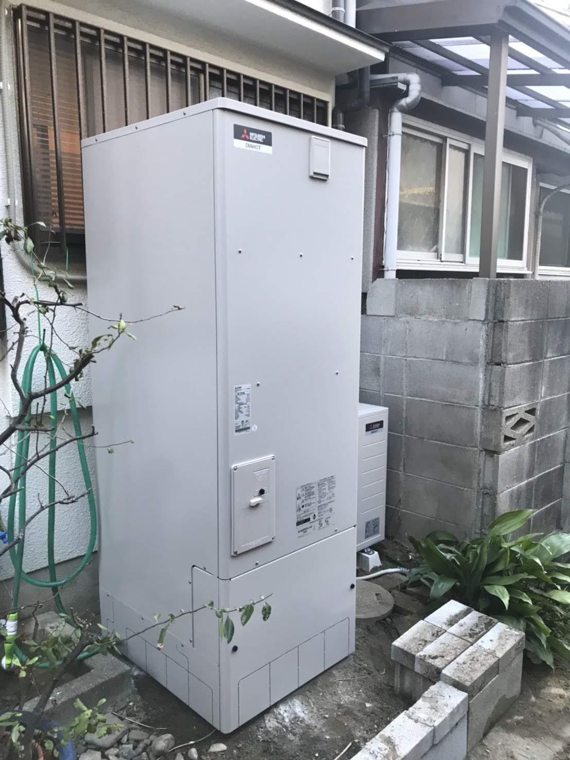 大阪府三菱エコキュートSRT-WK553D施工後の写真