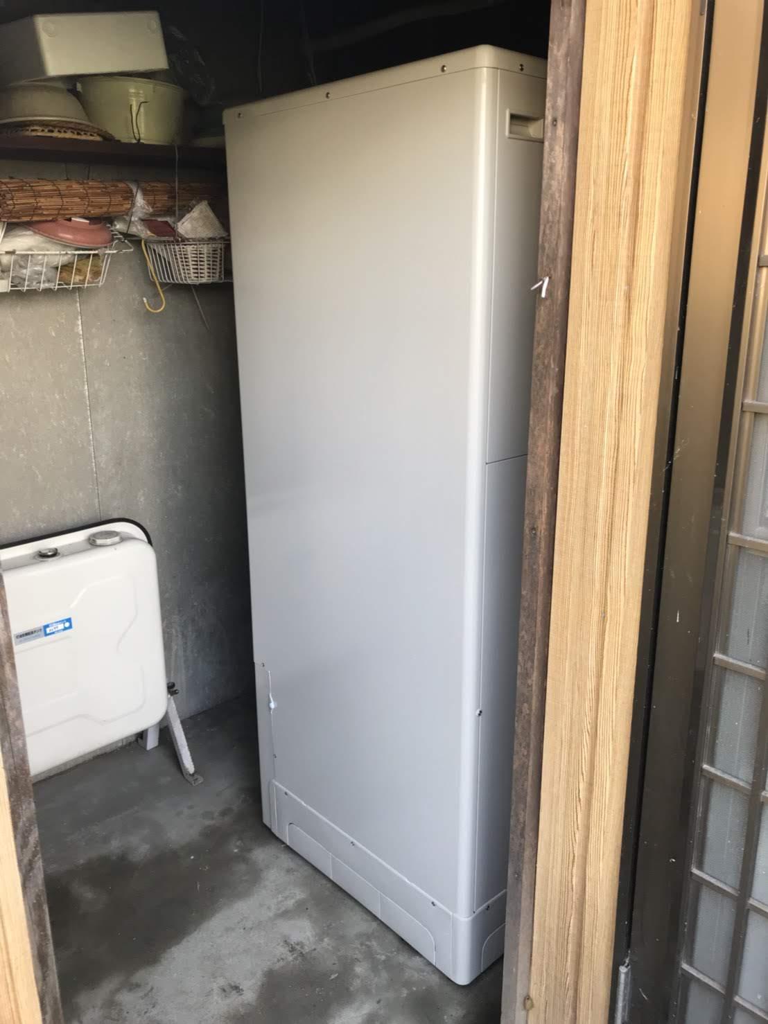 大阪府東芝エコキュートHWH-B375N施工後の写真
