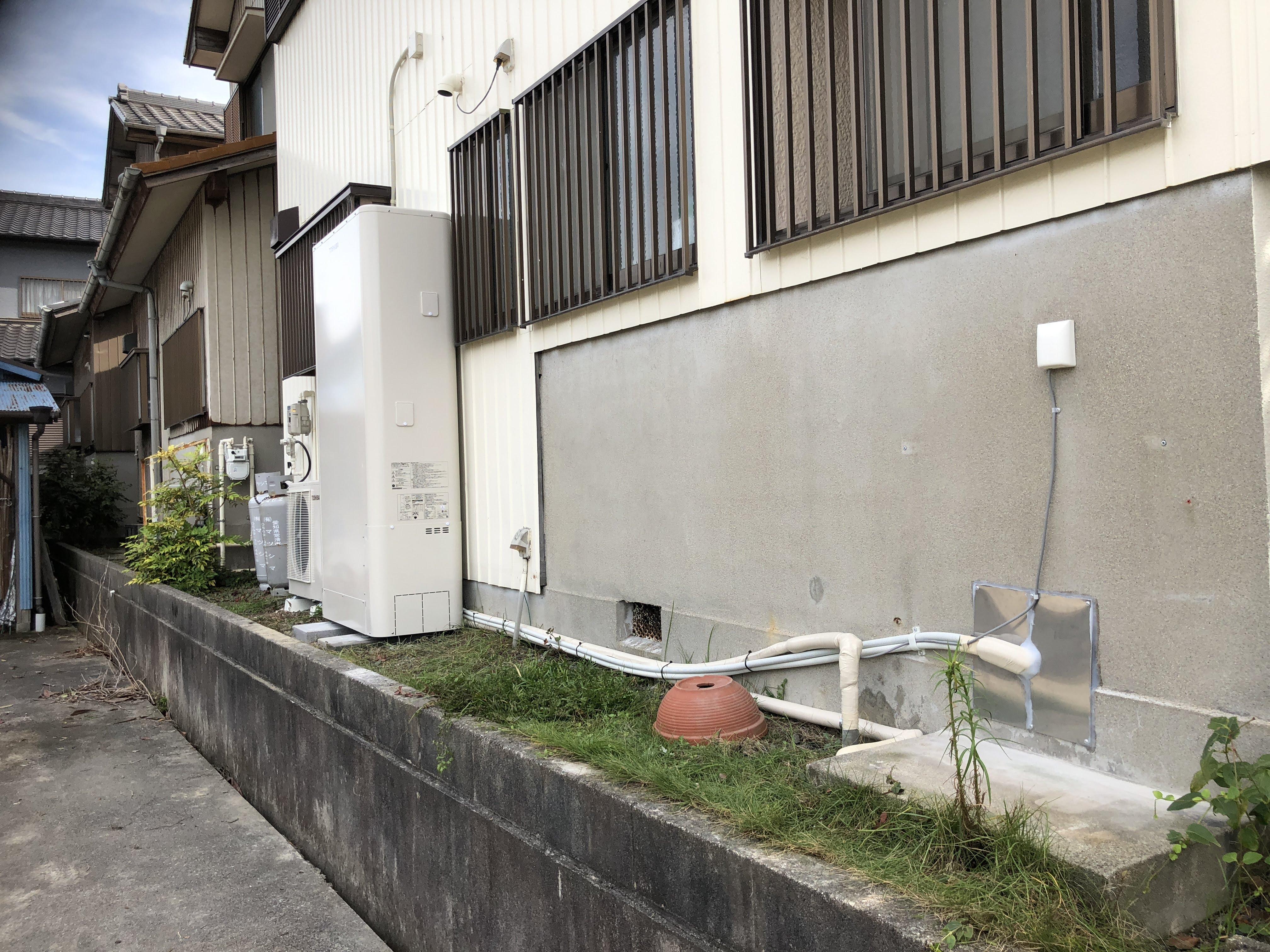 大阪府東芝エコキュートHWH-B465HAT施工後の写真