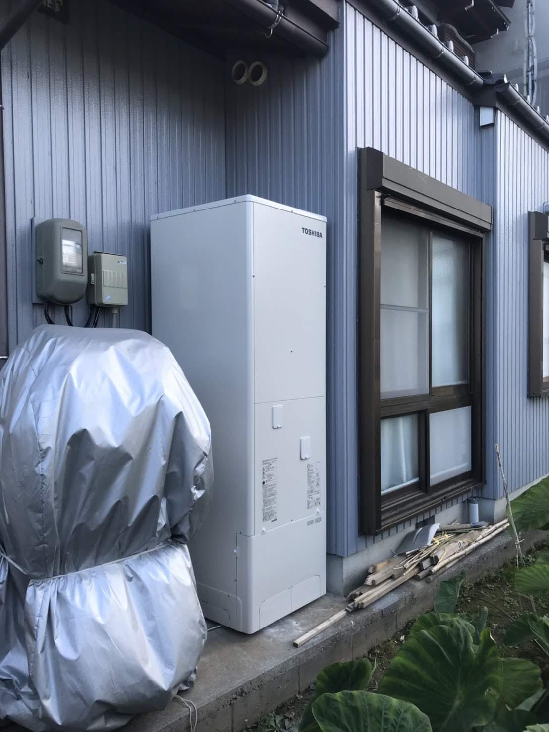 東芝エコキュートHWH-F375施工後の写真