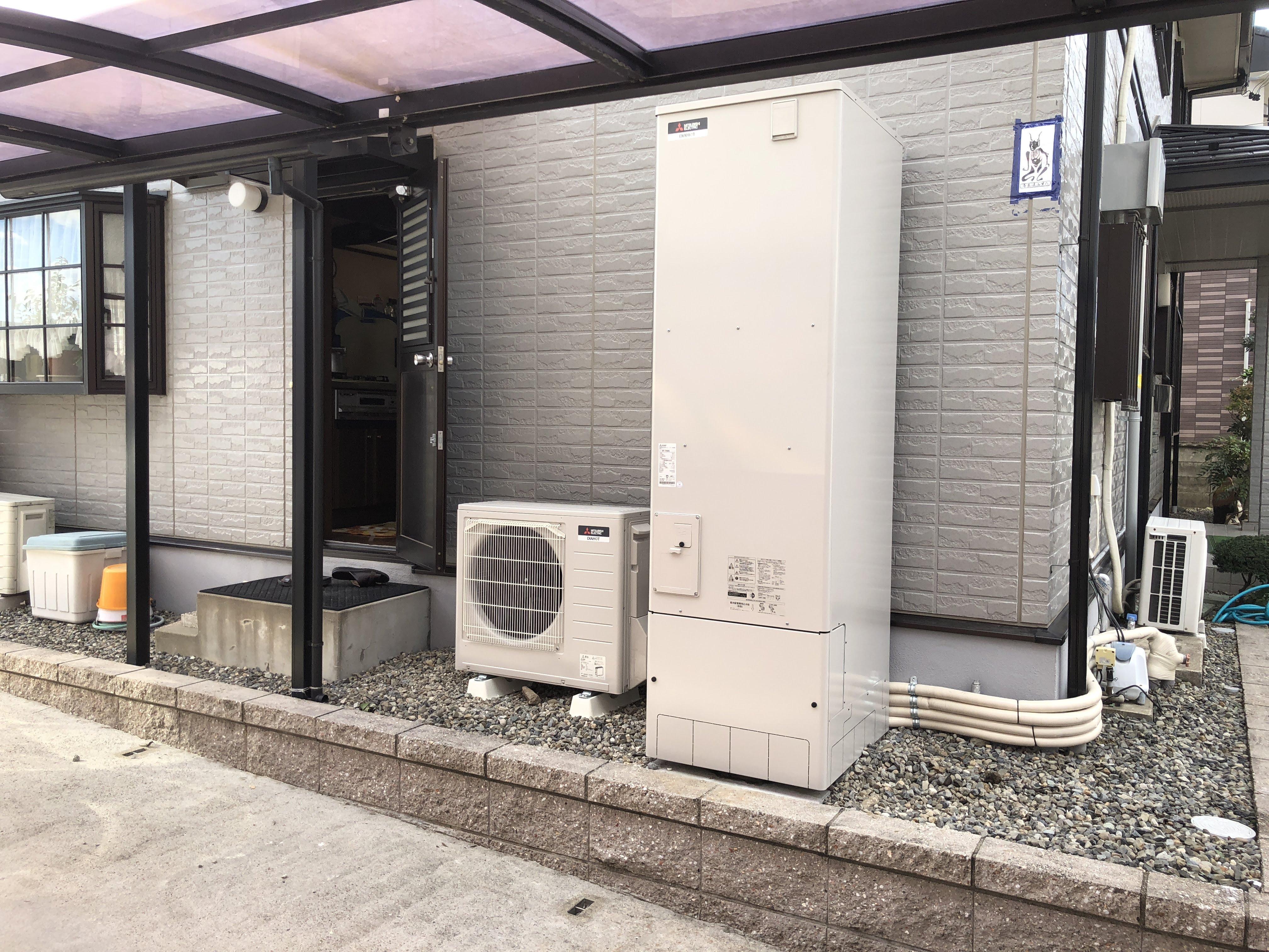 大阪府三菱エコキュートSRT-W373施工後の写真