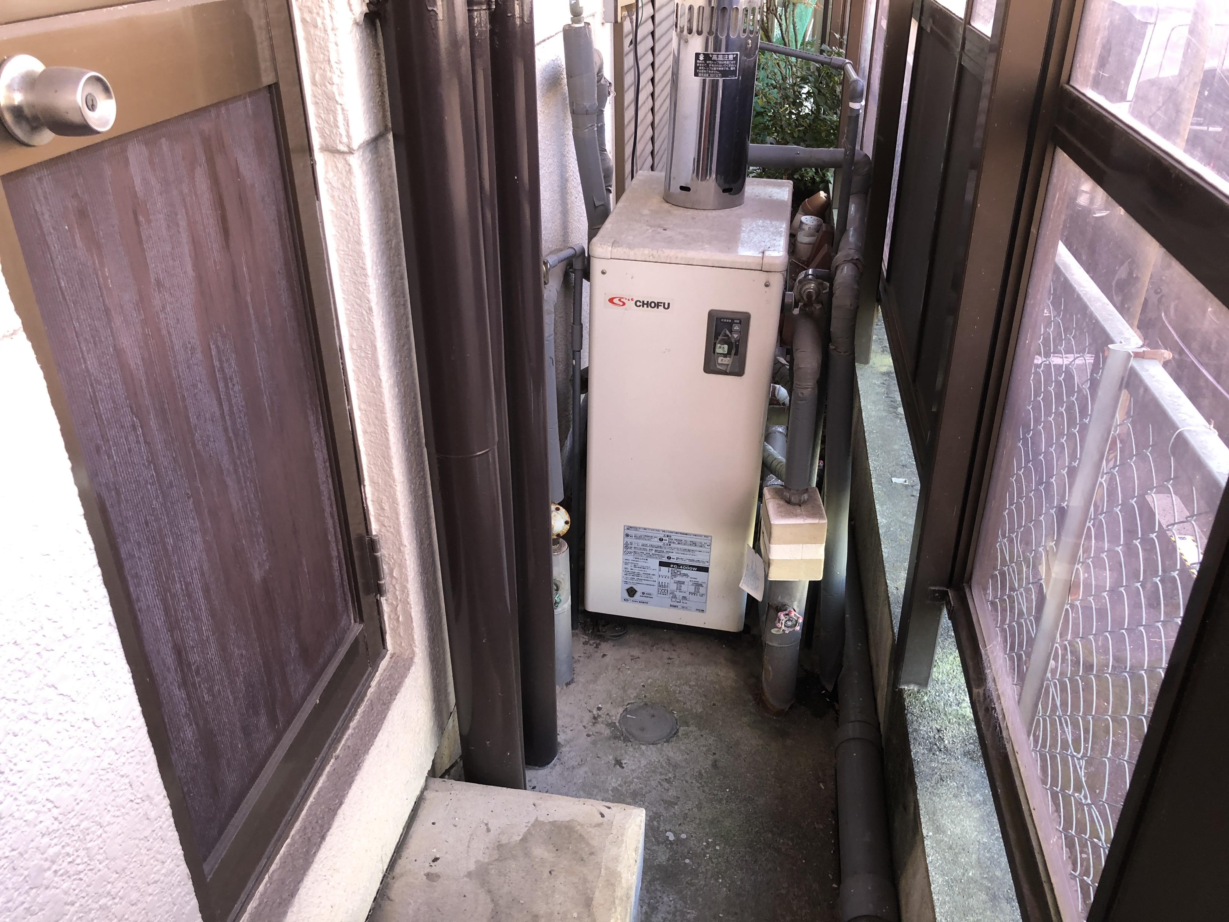 大阪府三菱エコキュートSRT-S374UZ施工前の写真