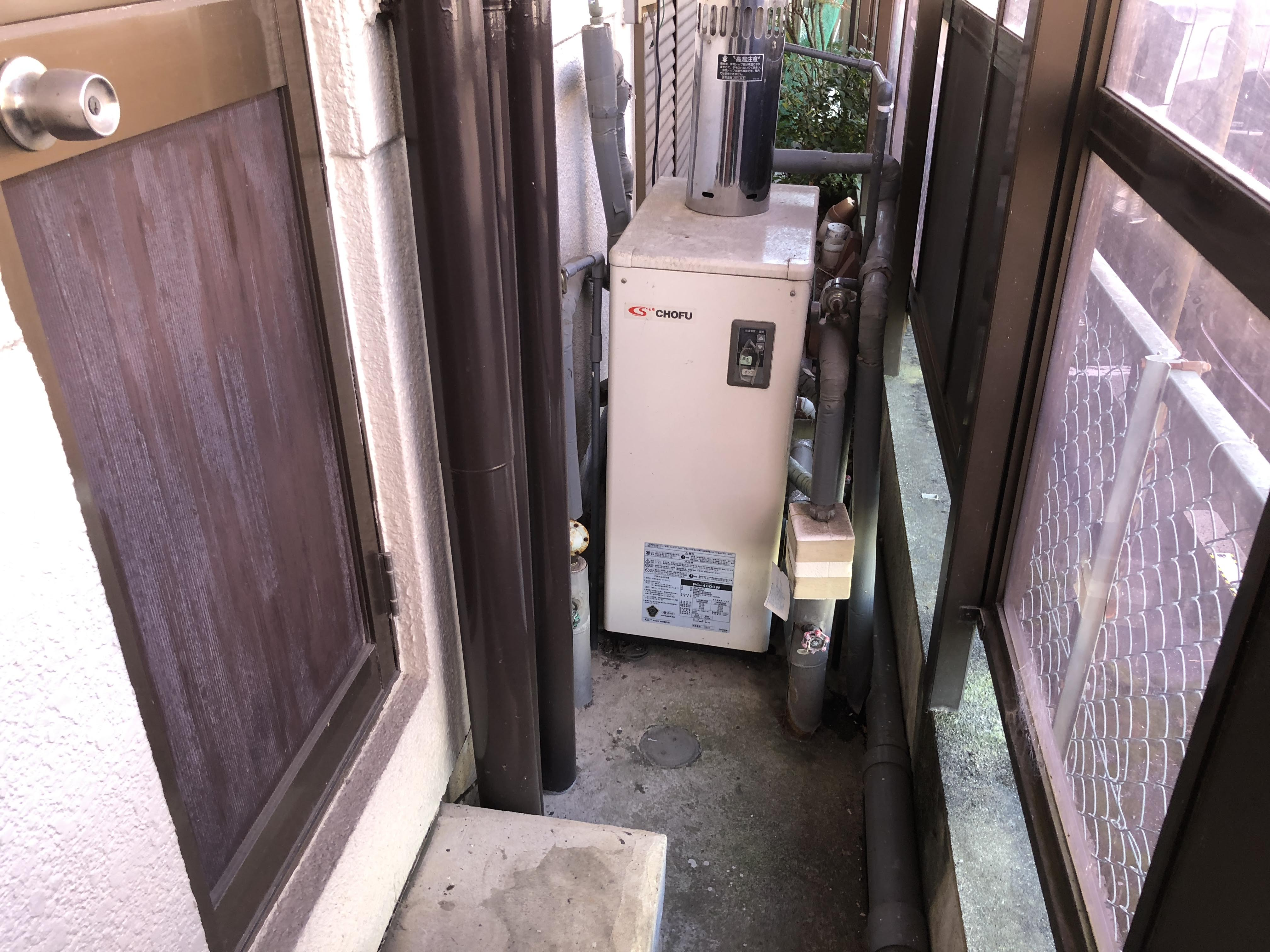 大阪府東芝エコキュートHWH-F465N施工前の写真