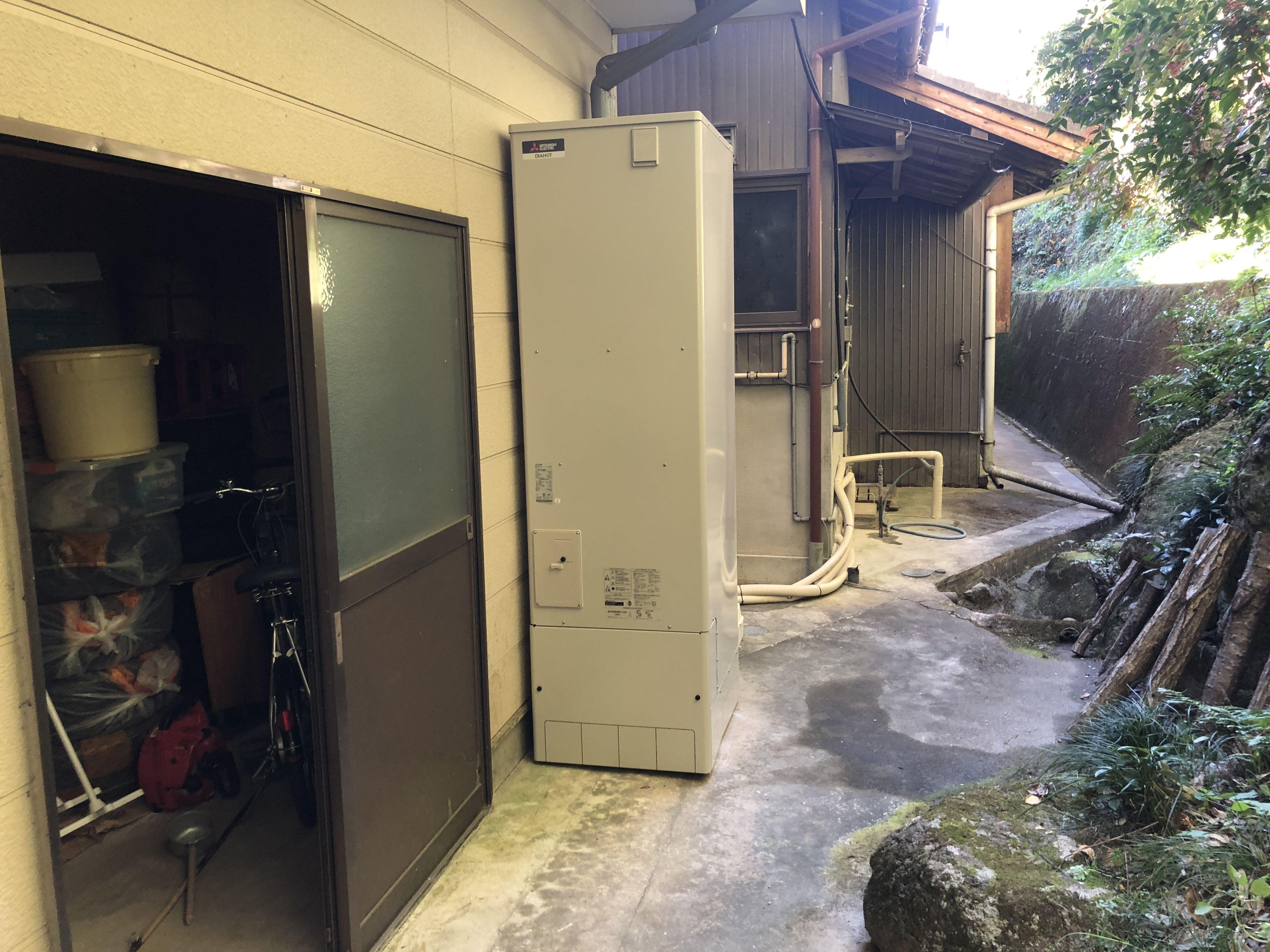大阪府三菱エコキュートSRT-SK373D施工後の写真