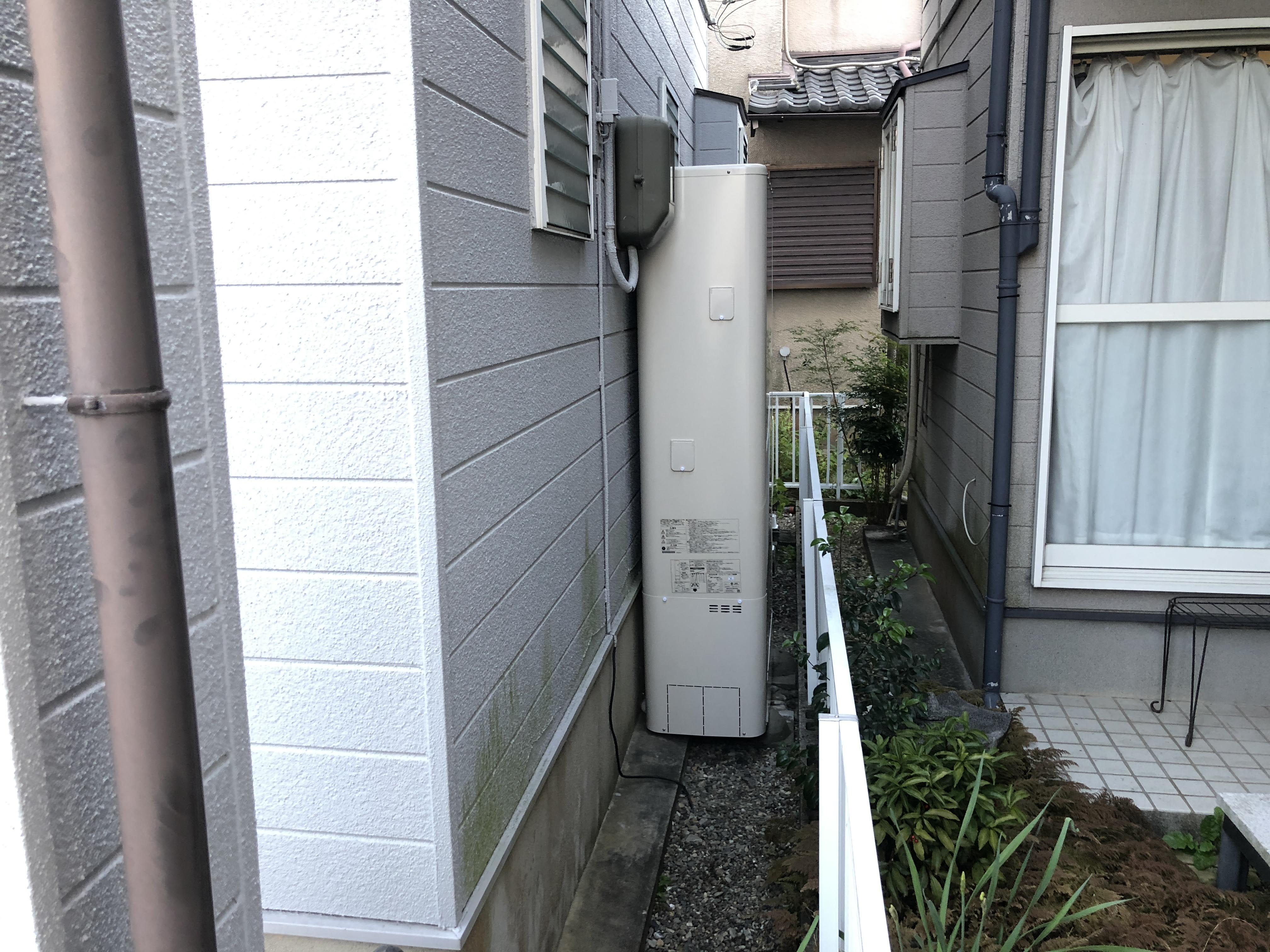 大阪府東芝エコキュート HWH-B465HA施工後の写真