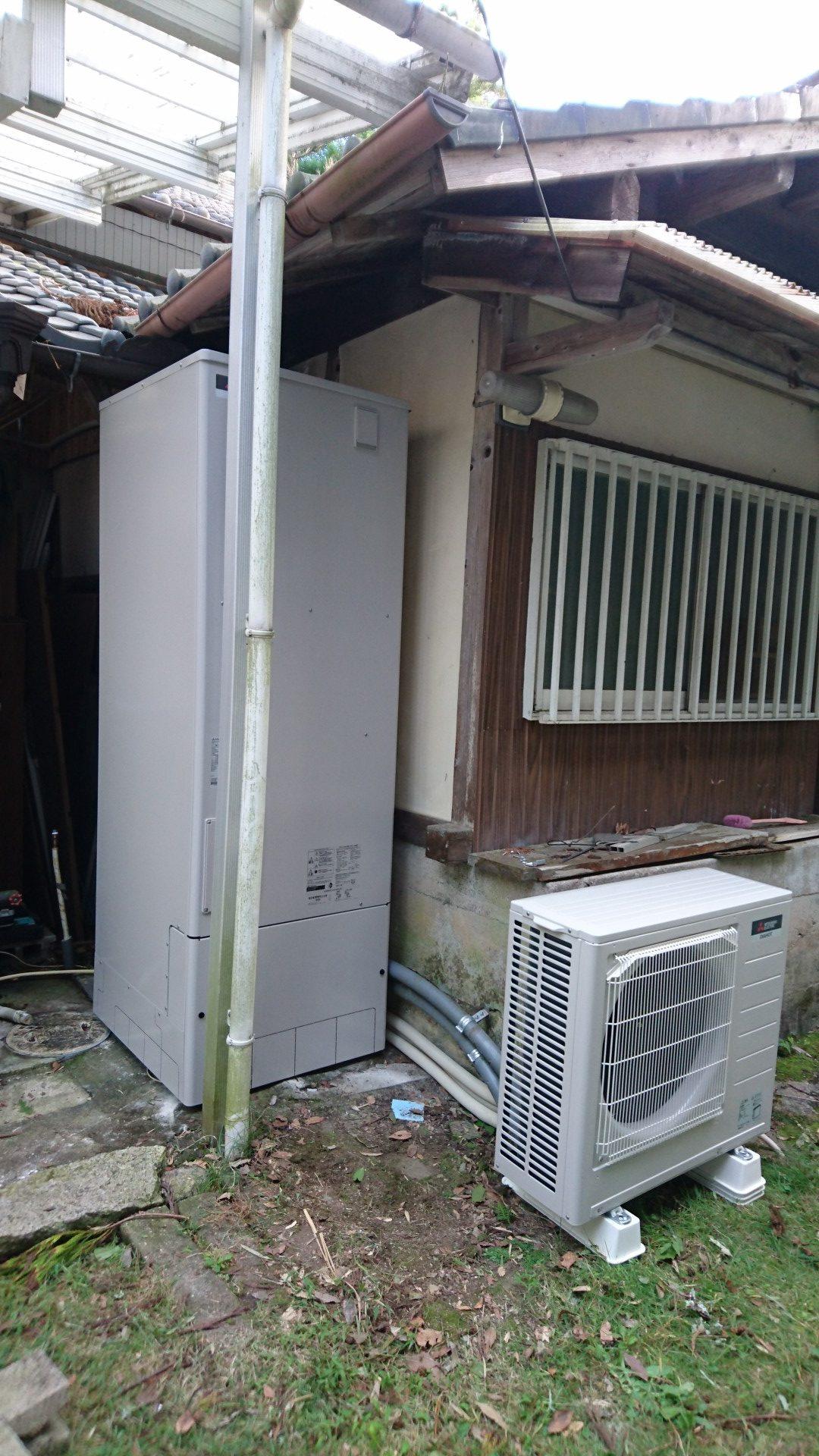 大阪府三菱エコキュートSRT-ST554U施工後の写真