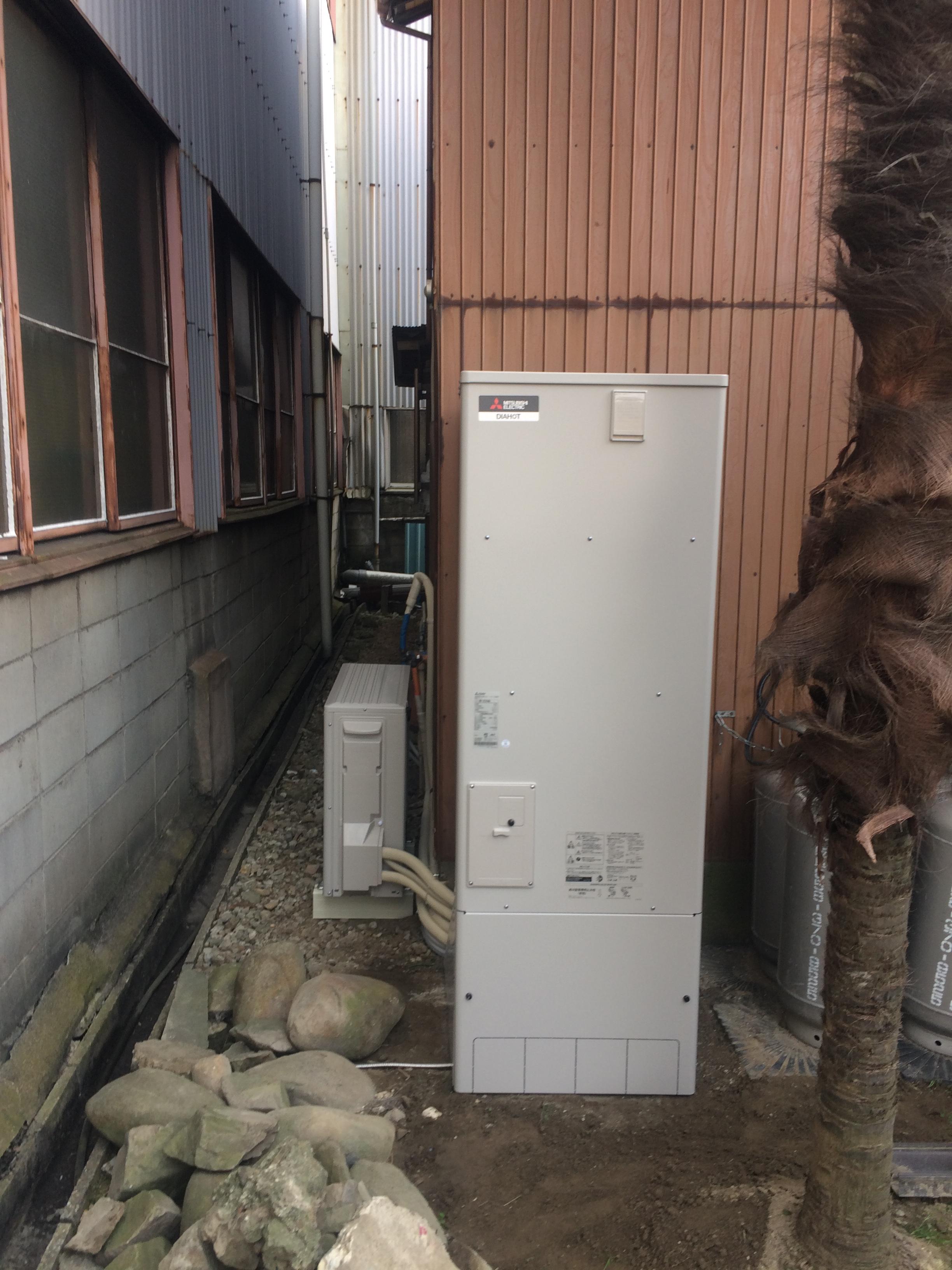 京都府三菱エコキュートSRT-NK464D施工後の写真