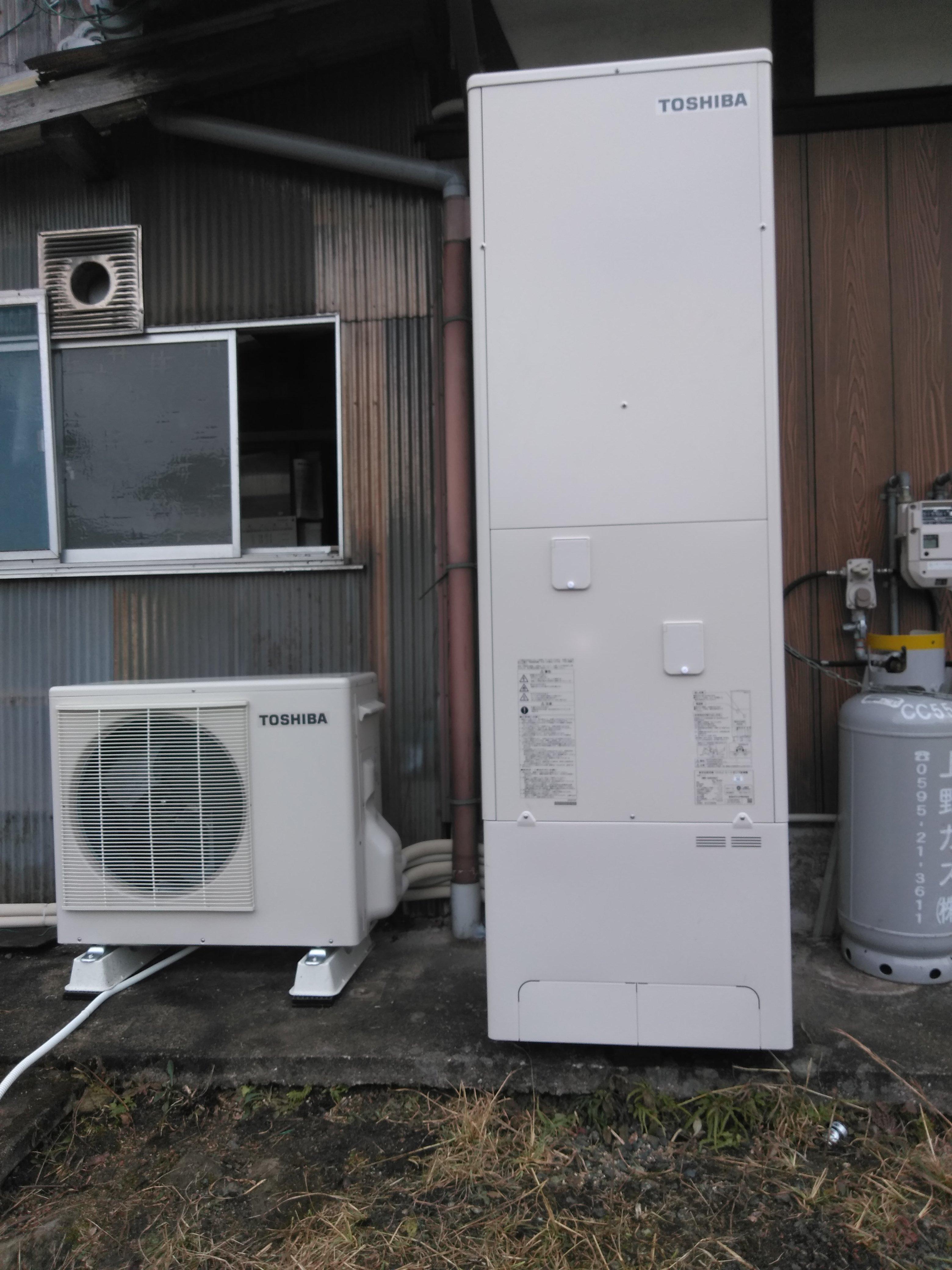 兵庫県東芝エコキュートHWH-B465N施工後の写真