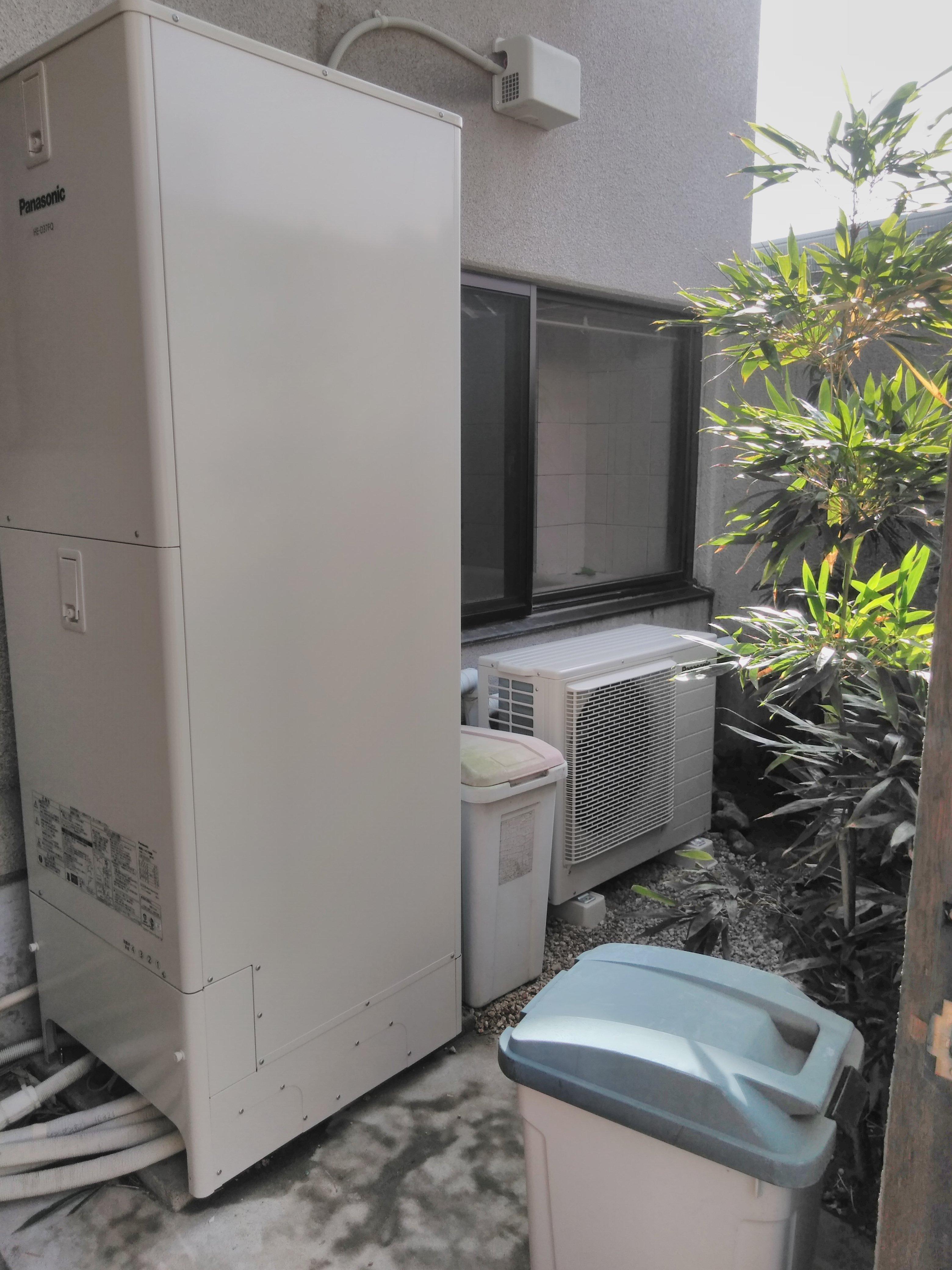 大阪府パナソニックエコキュートHE-D37Q施工後の写真